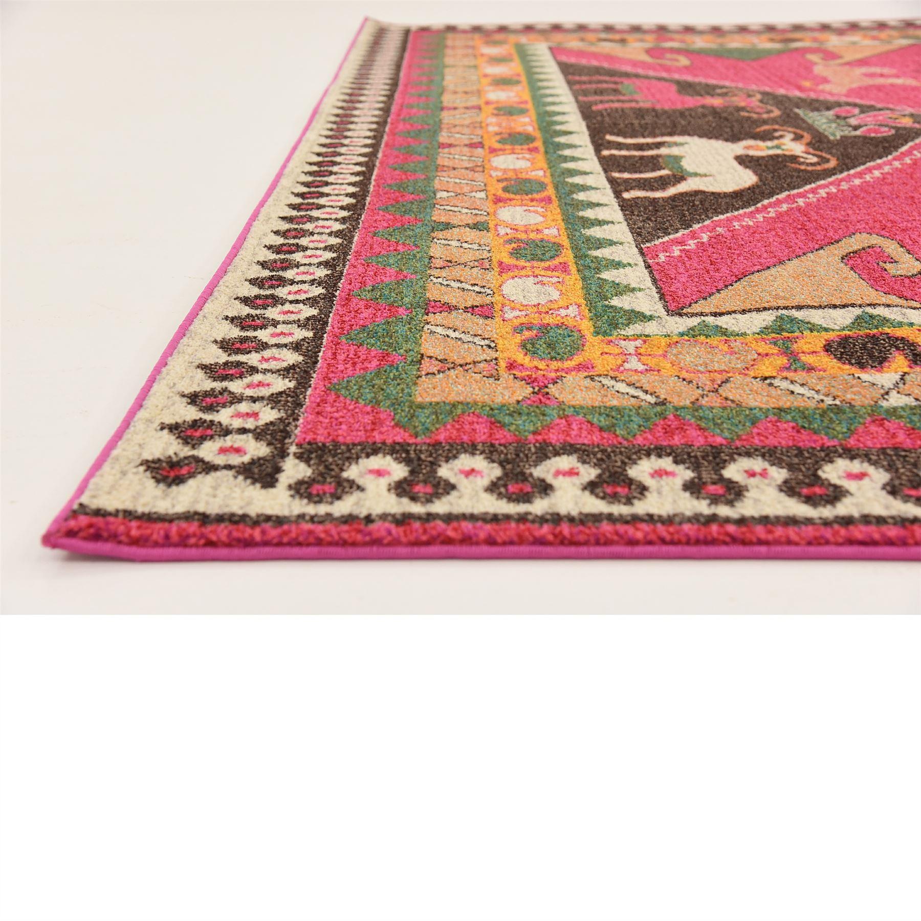 traditional pink persian design area rug tribal oriental design carept ebay. Black Bedroom Furniture Sets. Home Design Ideas