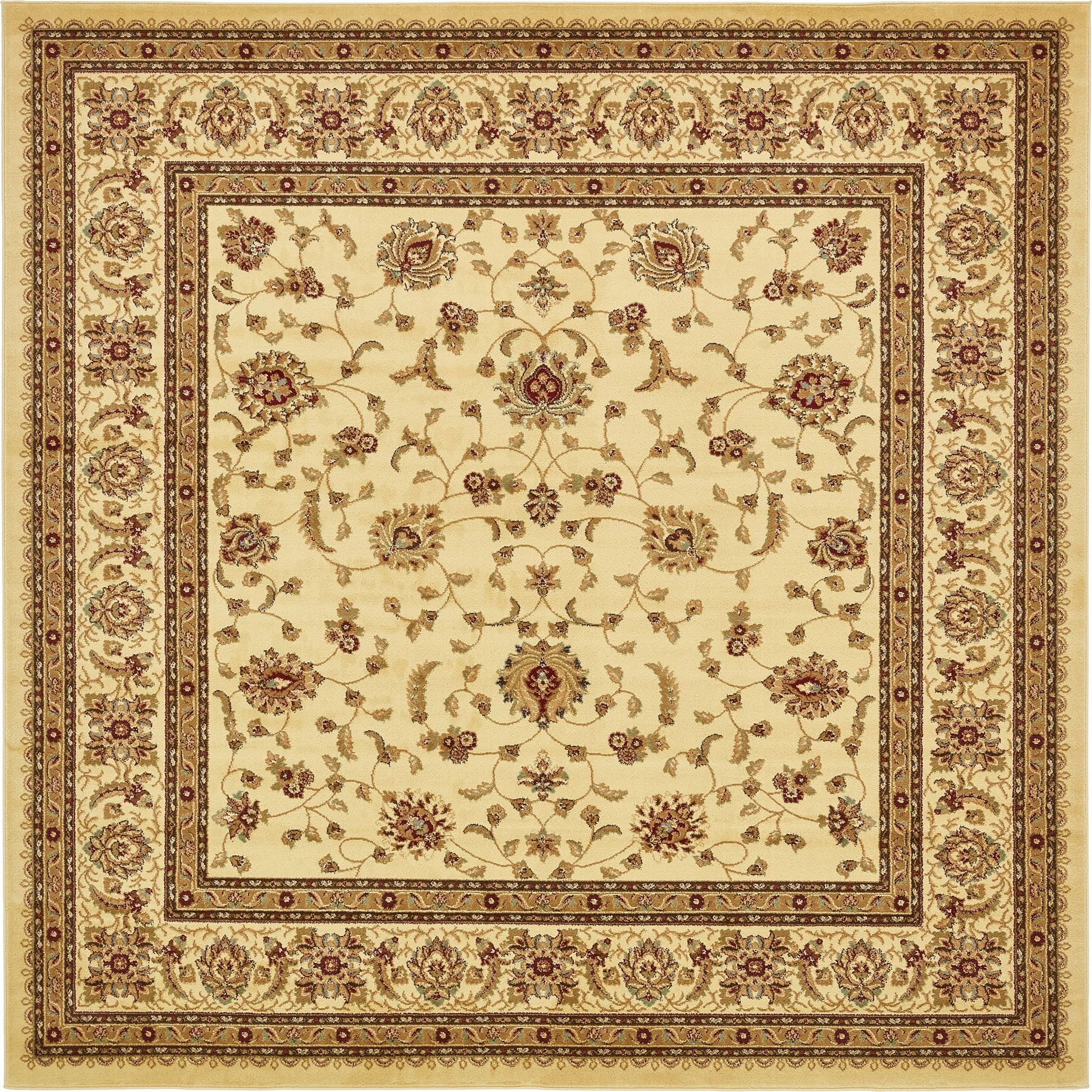 Traditional Persian Design Area Rug Large All Over Floral
