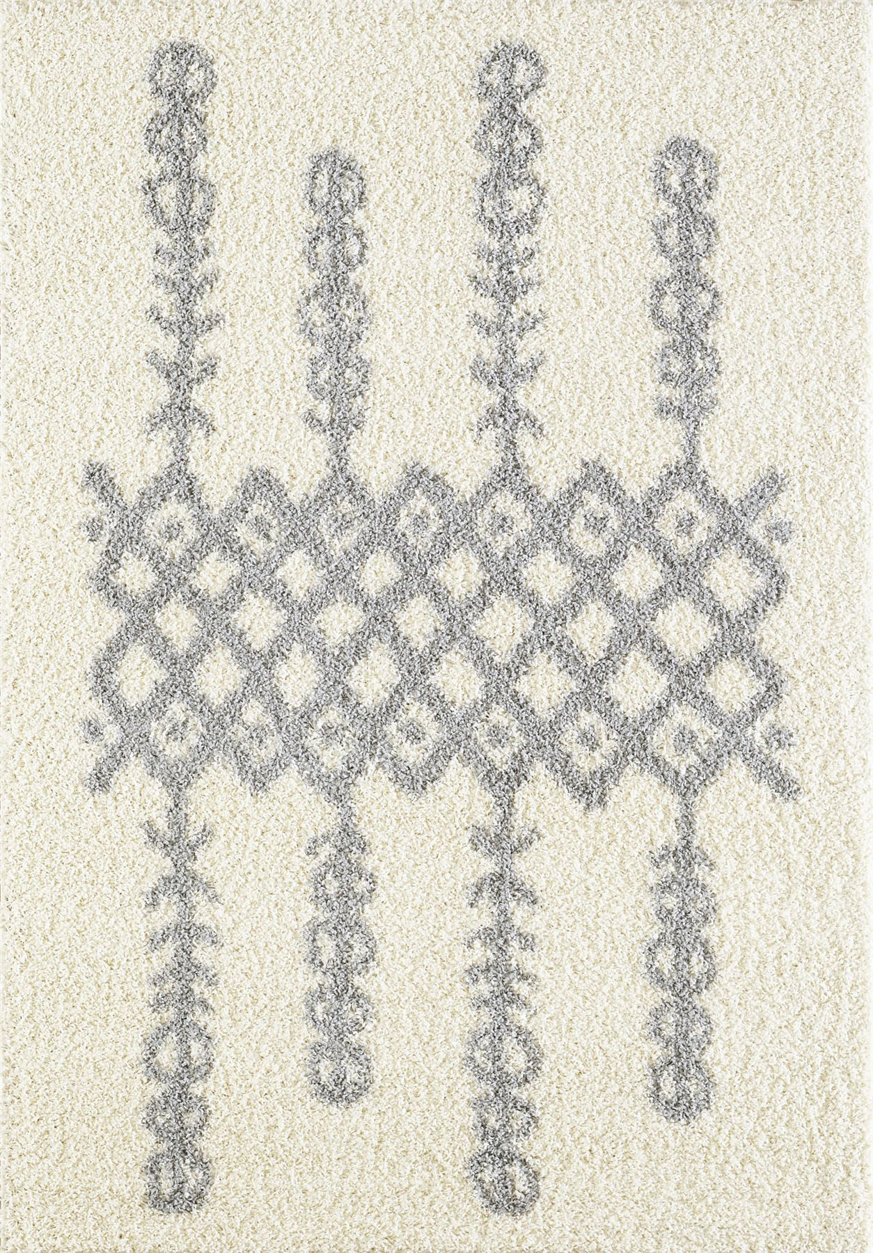 Tappeto-A2Z-Nero-Grigio-Avorio-tradizionale-marocchina-Shaggy-Berber-Boho-Tribal-3cm-Pile miniatura 9