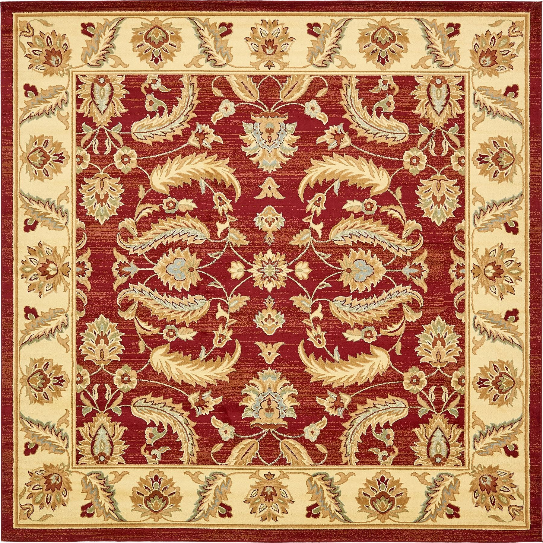 Traditional Style Persian Design Floral Area Rug Large