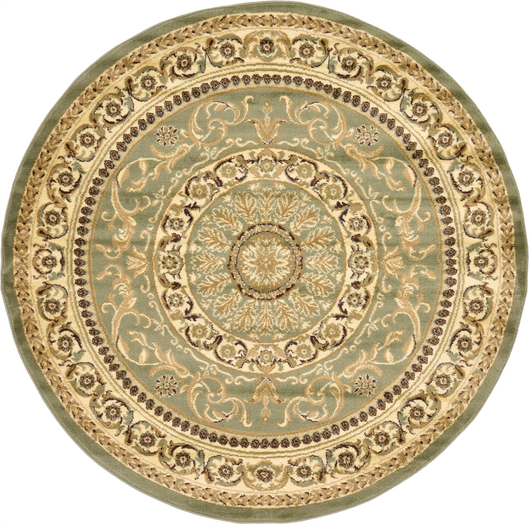 Traditional Persian Style Area Rug Oriental Large Round