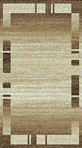 Tappeto-moderno-contemporaneo-area-a-contrasto-Marrone-Grigio-Bianco-quadrati-a-strisce-Tappeto miniatura 6