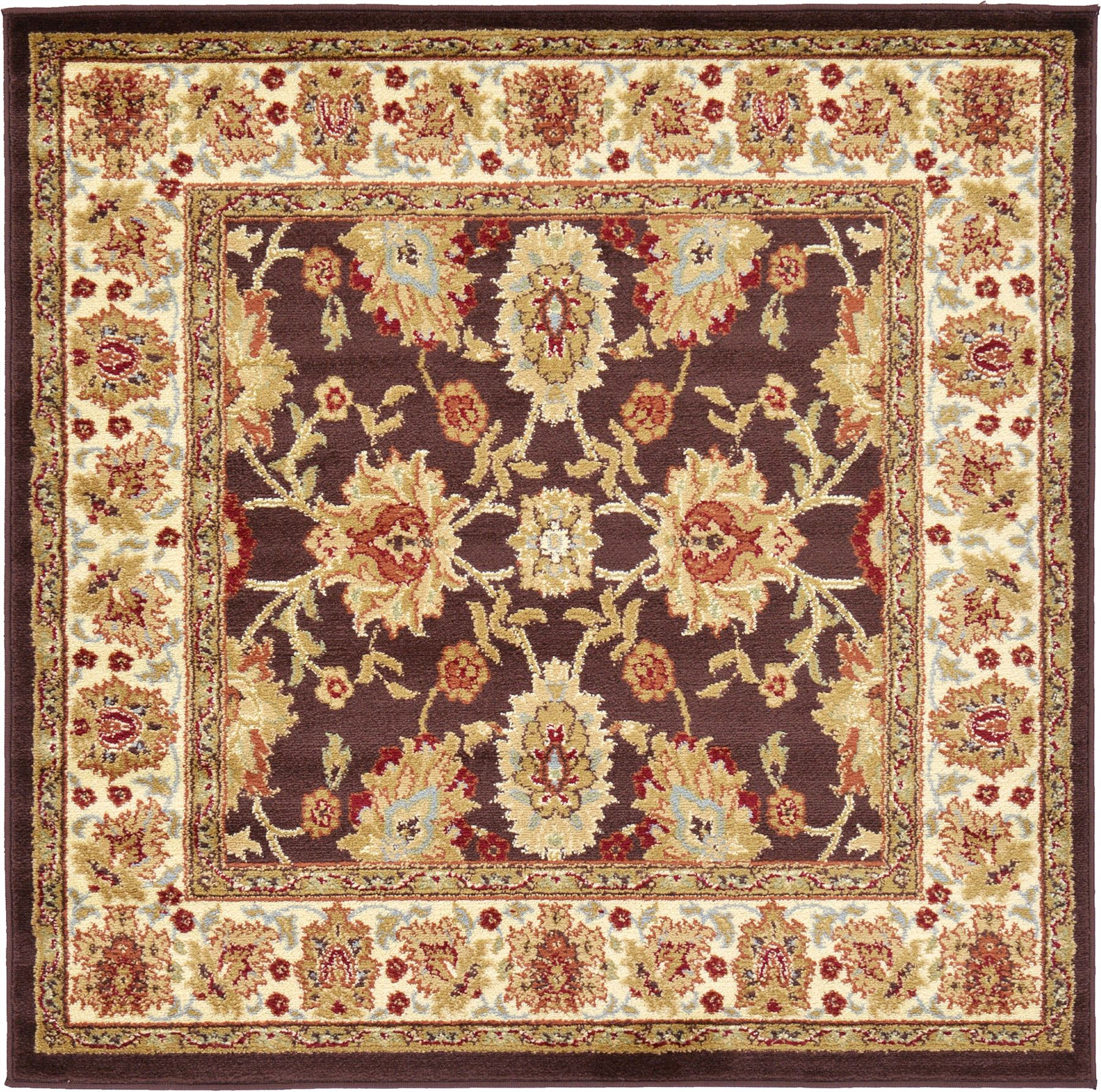 Traditional Rug Oriental Area Rug Runner-Round-Rug Persian