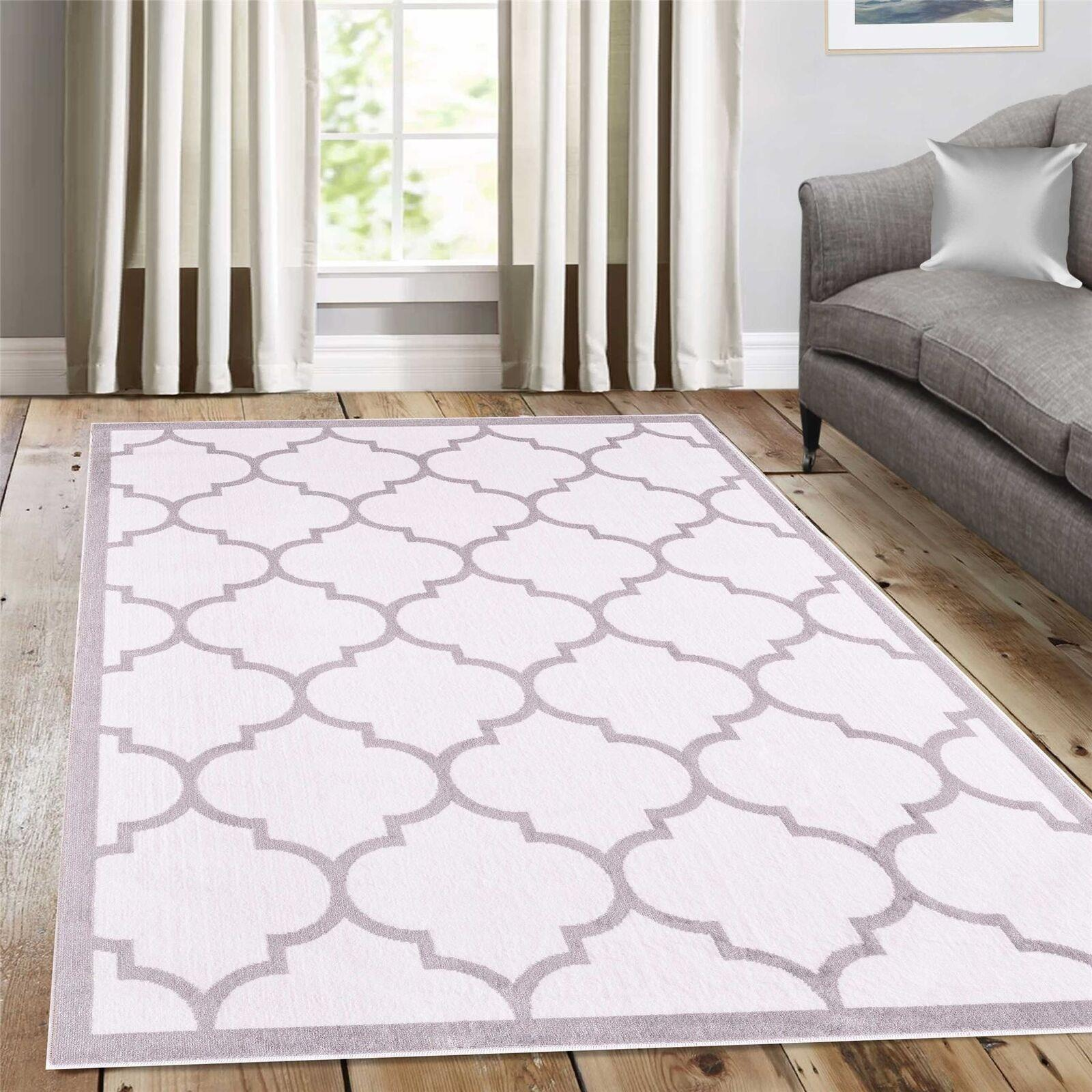 Large-Modern-Classic-Trellis-INDOOR-RUGS-Coloured-Floor-Carpet-Outdoor-Rug-Mats thumbnail 9