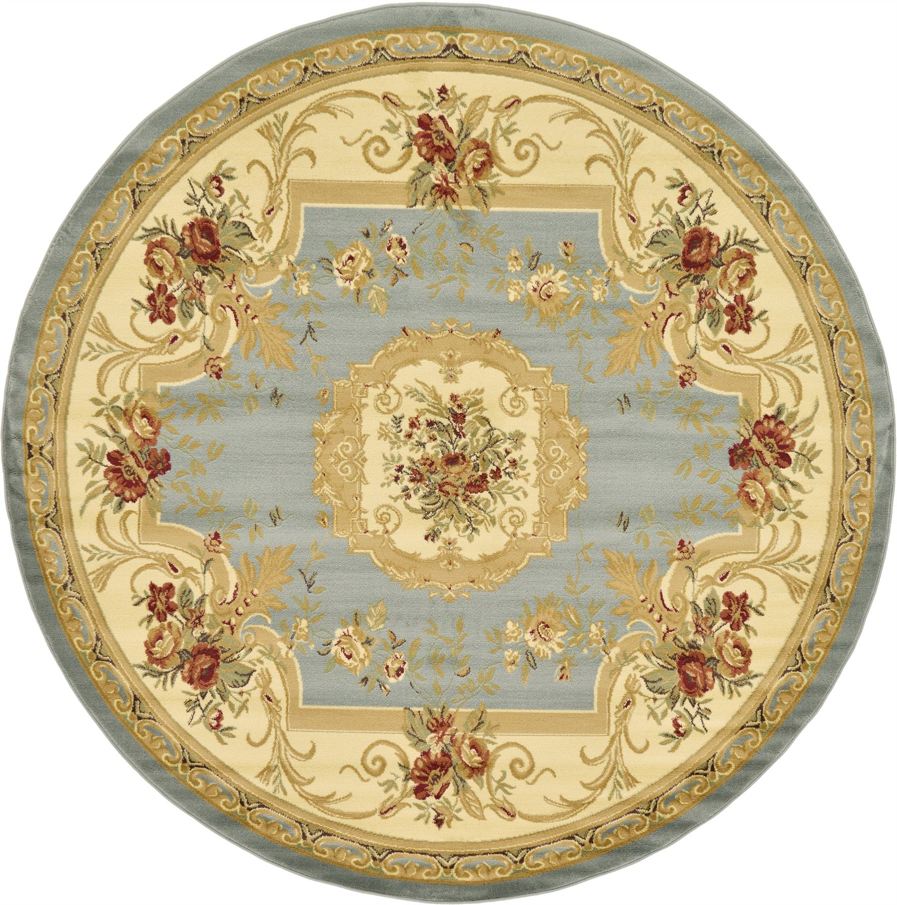Oriental-Large-Area-Rug-Square-Traditional-Country-Round-Carpet-Medallion-Small thumbnail 37