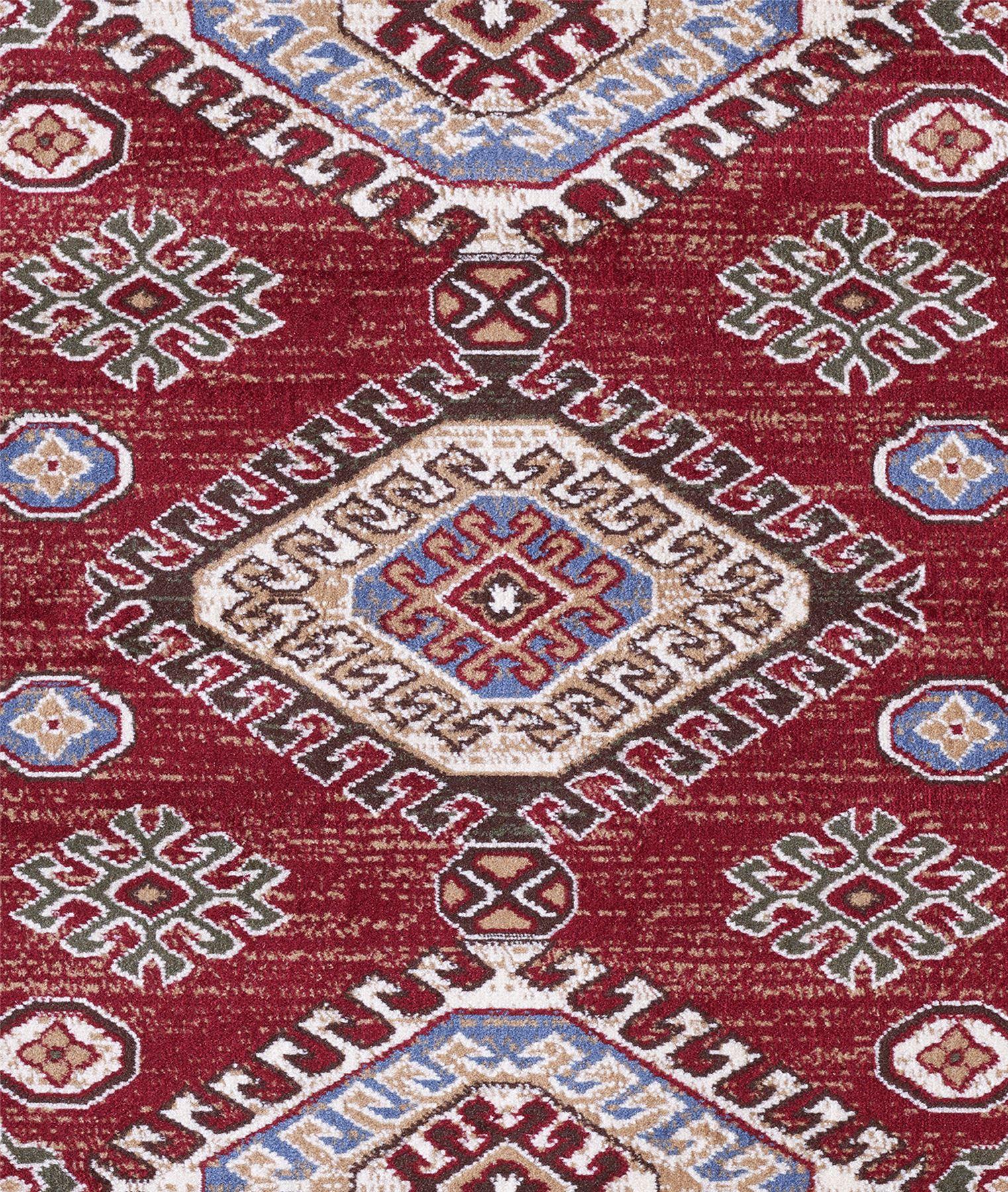 Traditionnel-Persan-Tapis-Oriental-Medaillon-Design-Tapis-Rouge-Bleu-Tapis-de-sol