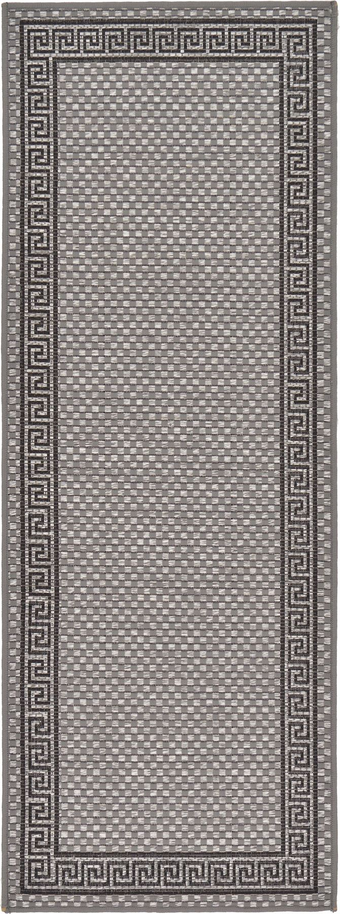 Modern-Outdoor-Thin-Area-Rug-Contemporary-Plain-Large-Small-Carpet-Gray-Brown thumbnail 12
