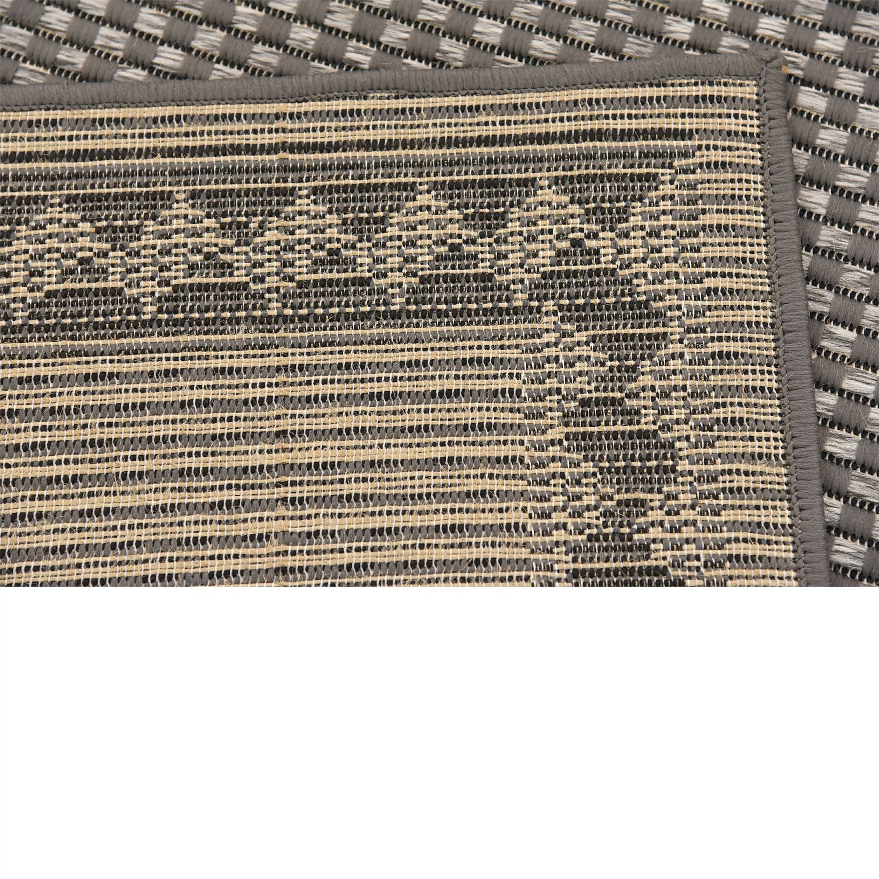 Modern-Outdoor-Thin-Area-Rug-Contemporary-Plain-Large-Small-Carpet-Gray-Brown thumbnail 18