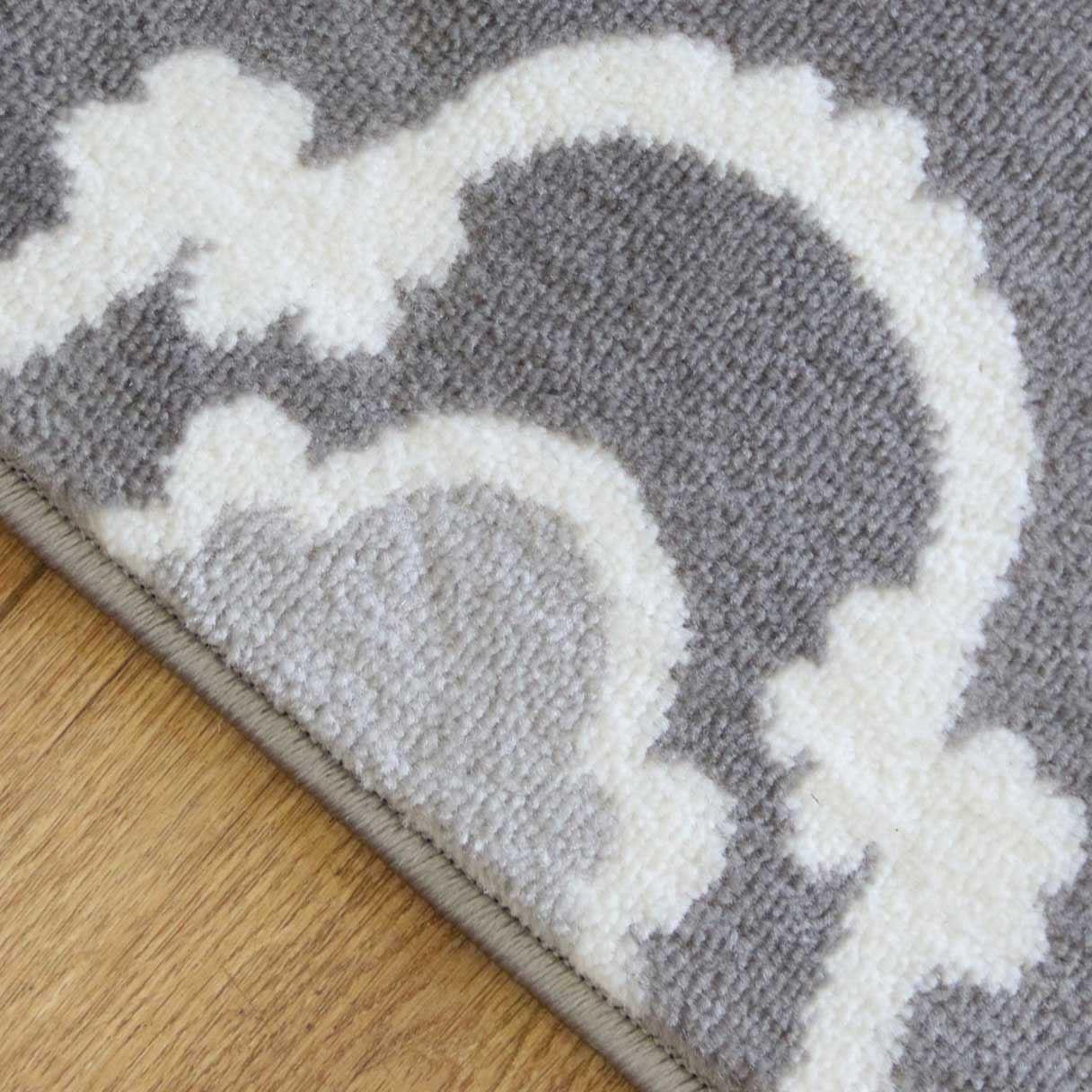 A2Z-grigio-grande-mix-di-moderni-tappeti-corridori-bianchi-a-contrasto-Traliccio-Design-Tappeti miniatura 5