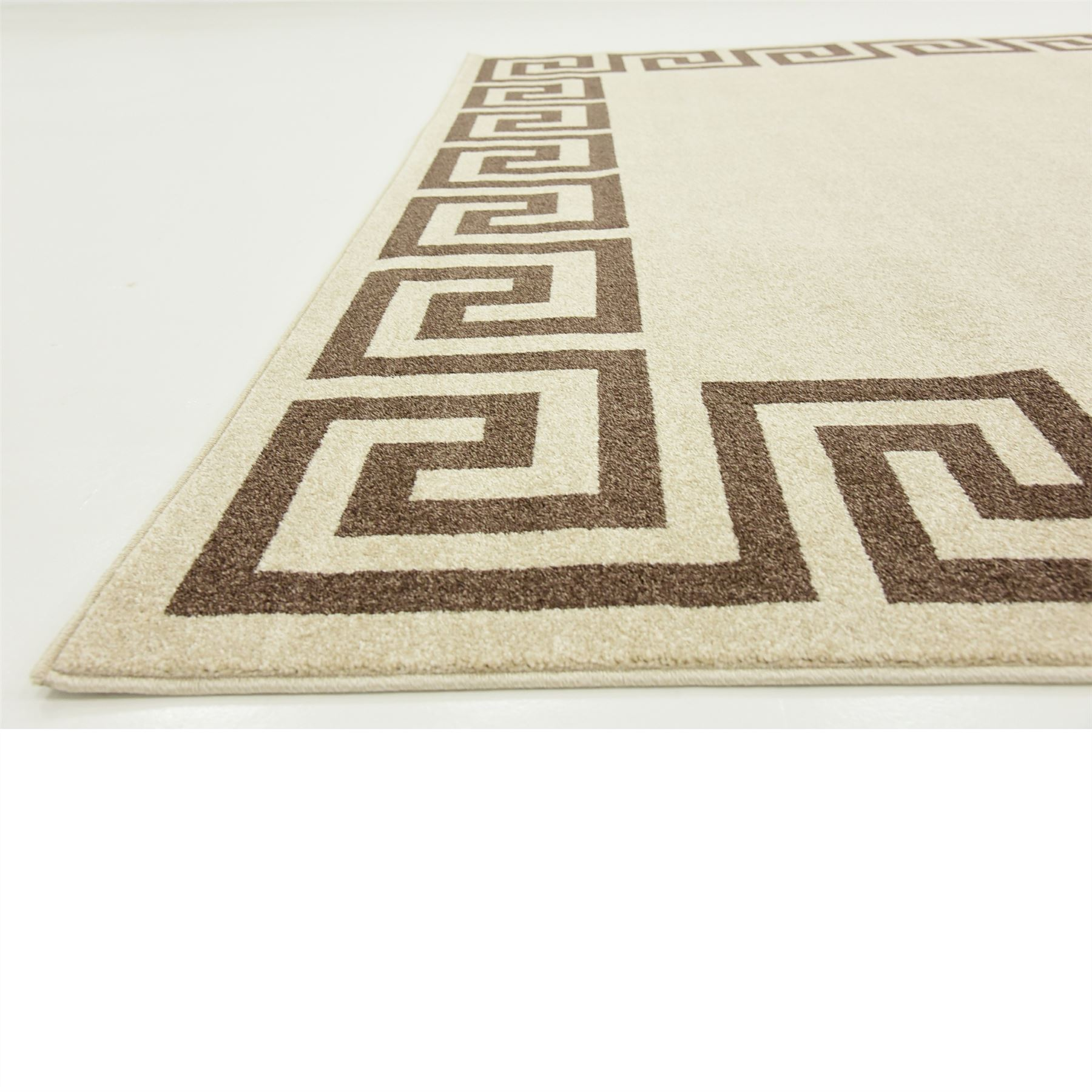 Modern greek design border area rug contemporary large for Modern design area rugs