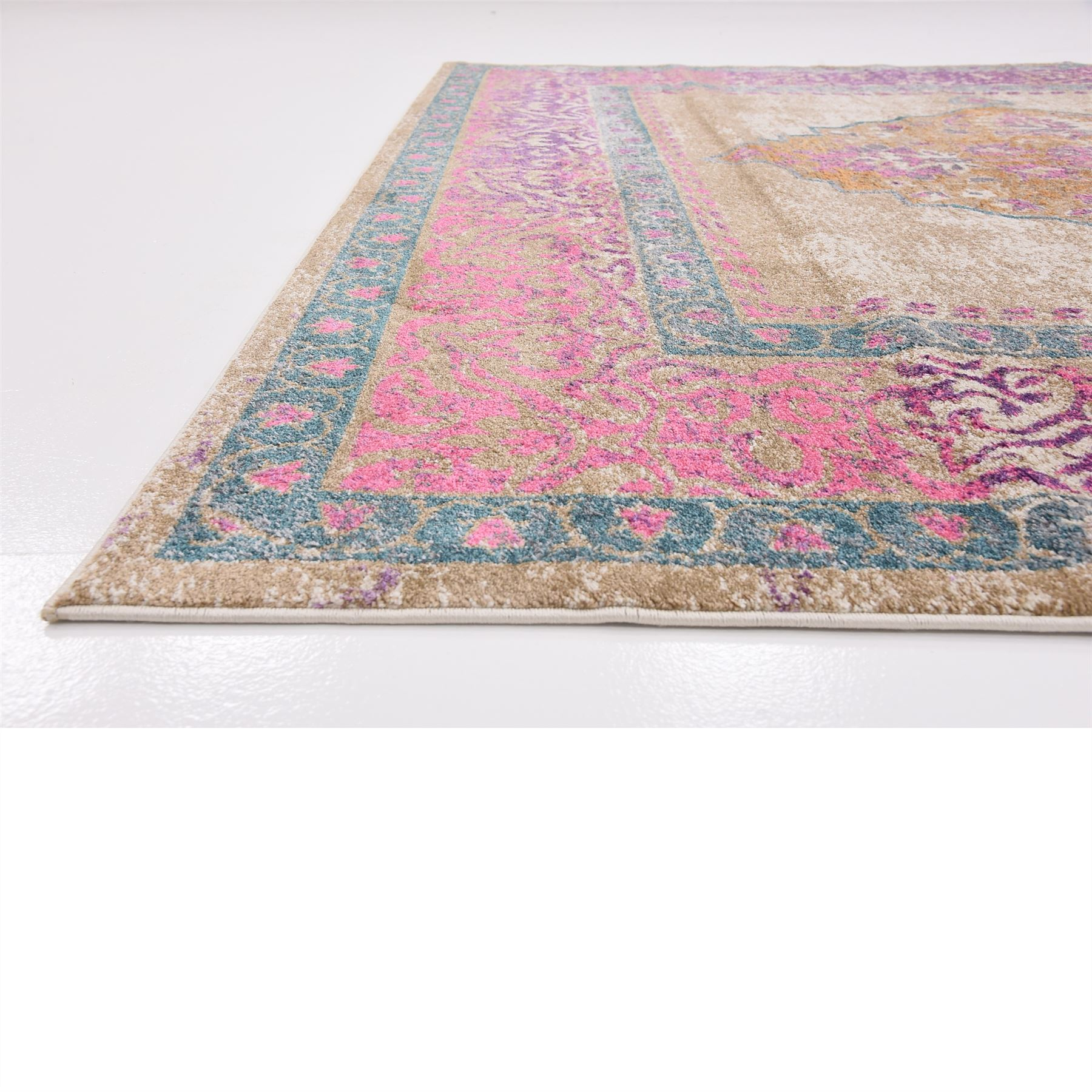 Famous Traditional Vintage Style Persian Design Area Rug Oriental Faded  AR75