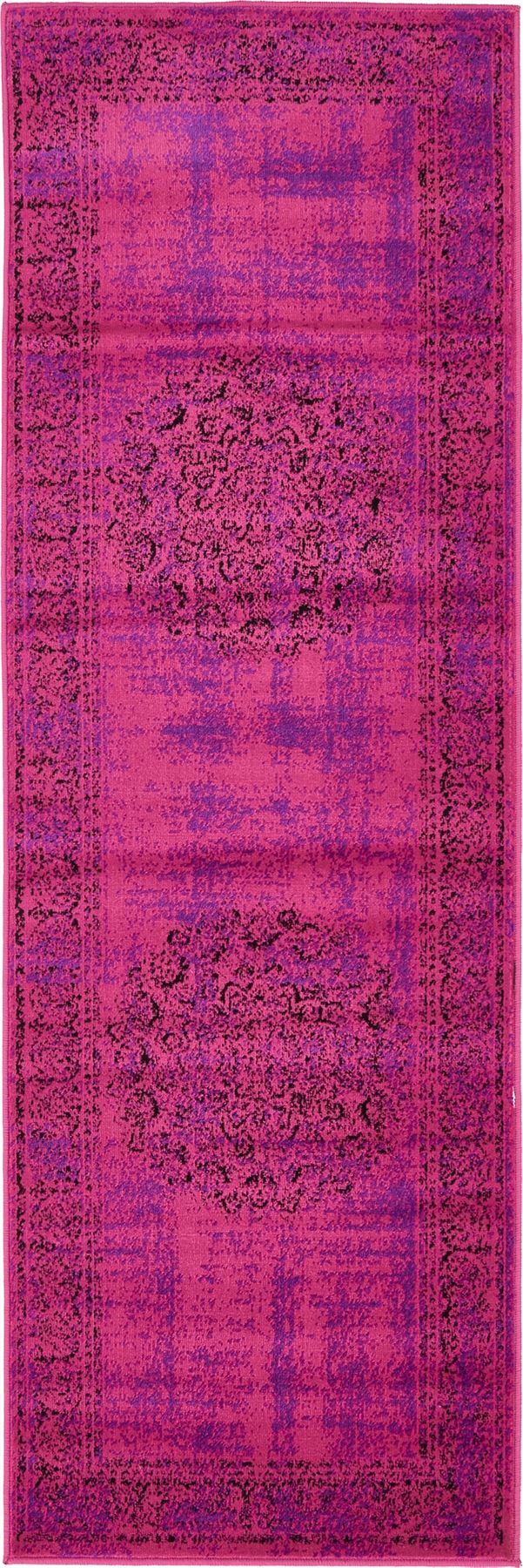Transitional Purple Faded Large Rug Modern Small