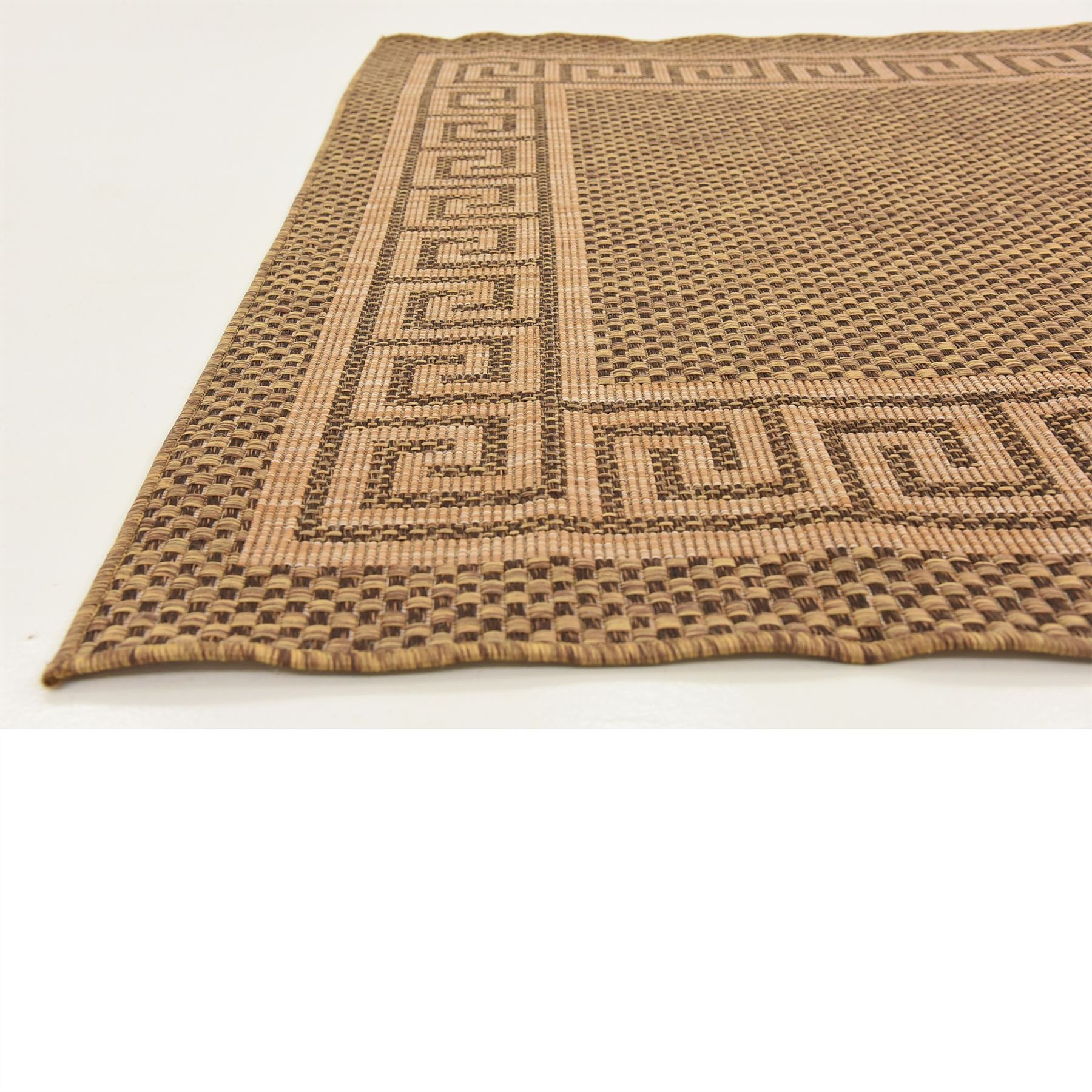 Modern-Outdoor-Thin-Area-Rug-Contemporary-Plain-Large-Small-Carpet-Gray-Brown thumbnail 6