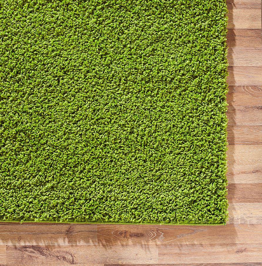 Green Shaggy Rug Warm Soft Carpet Fluffy Modern Style