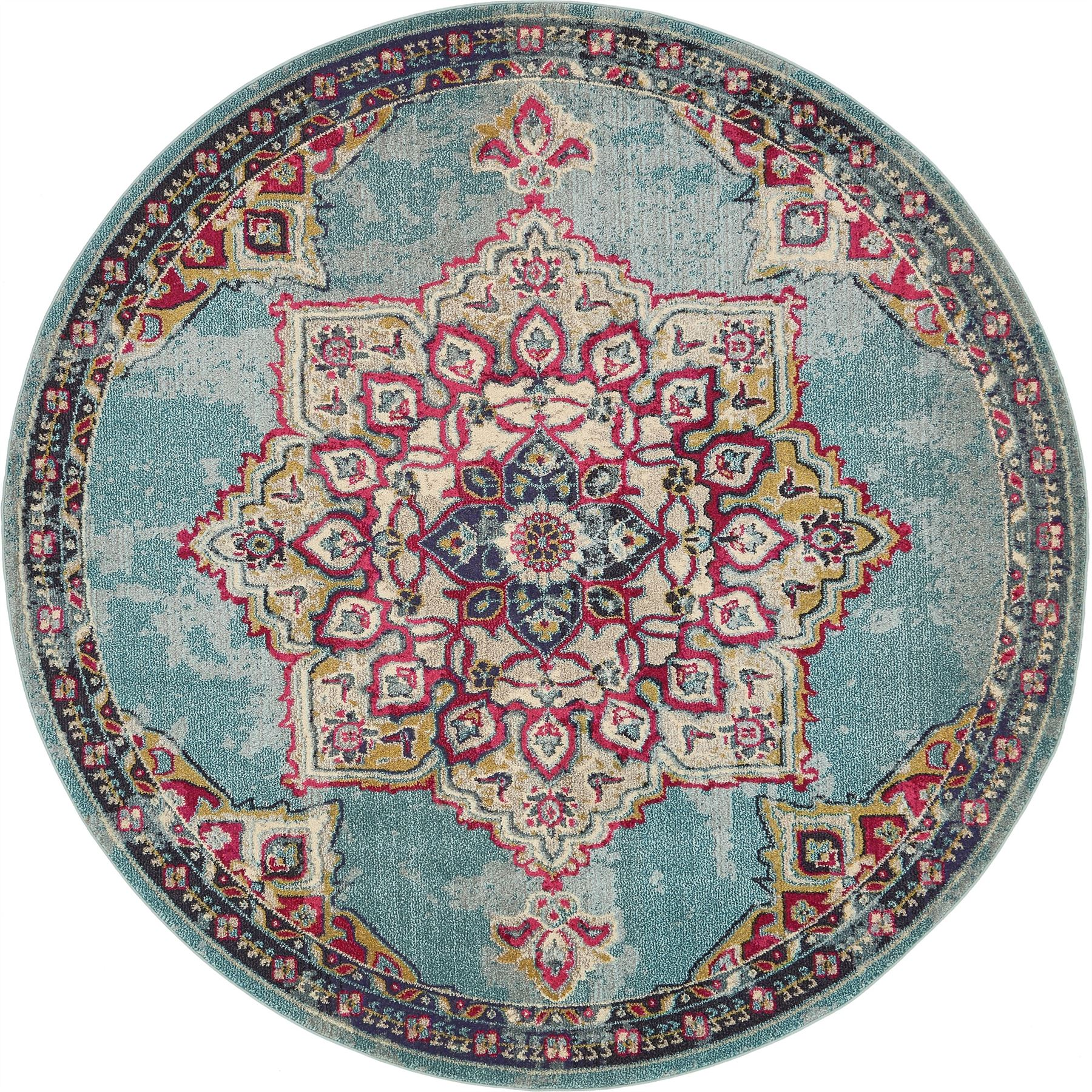 Home Rug Medallion Carpet Traditional Style Over-dyed Area
