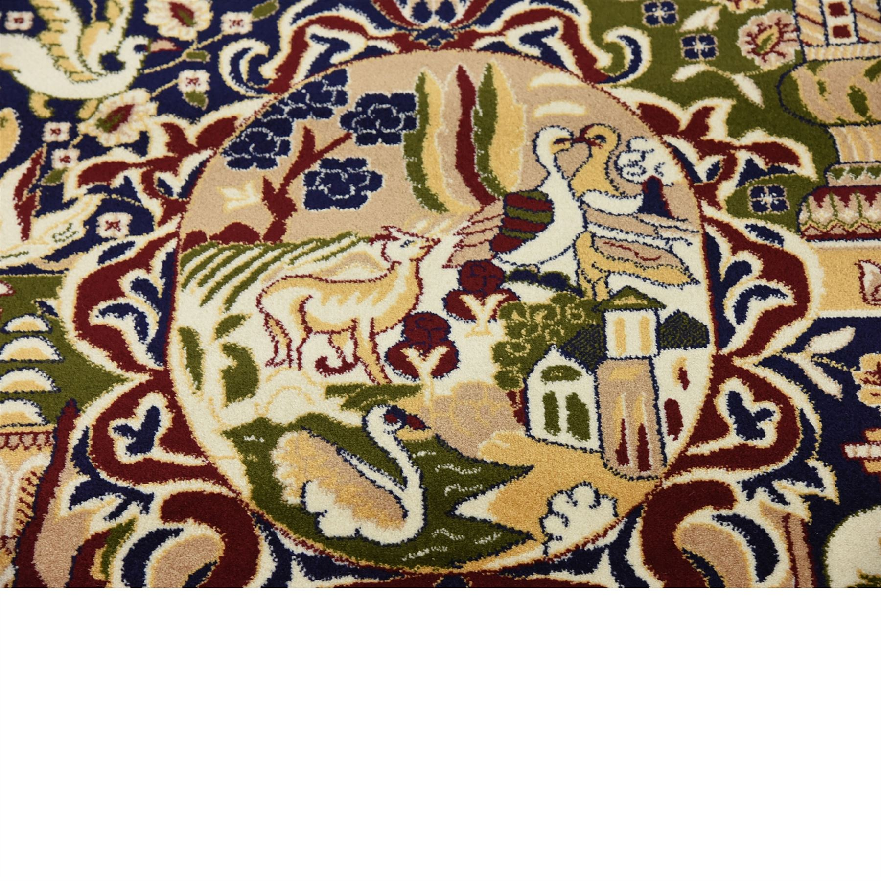 Oriental Rugs Out Of Style: Traditional Persian Style Kashmar Area Rug Animal Design