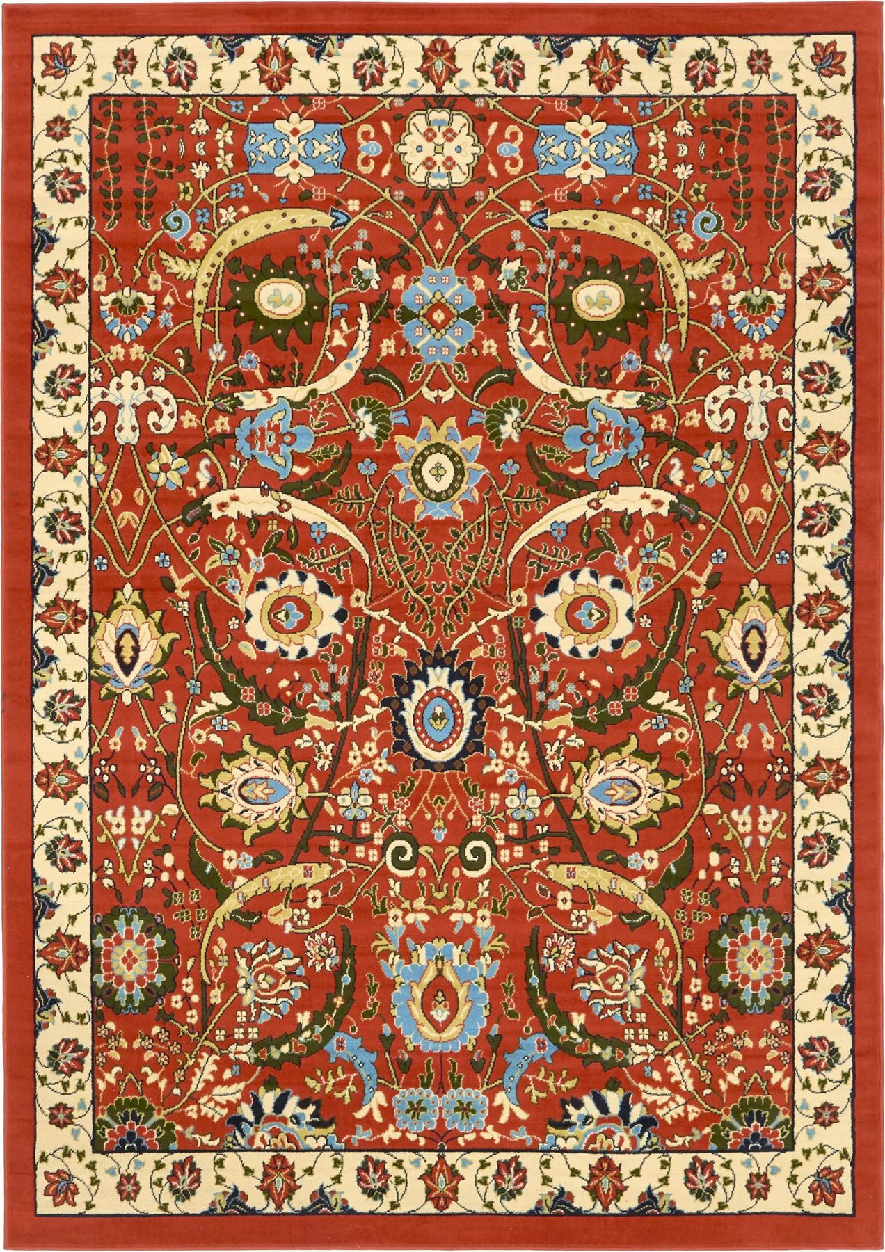 Traditional Persian Design Rug Large Oriental Small Floral