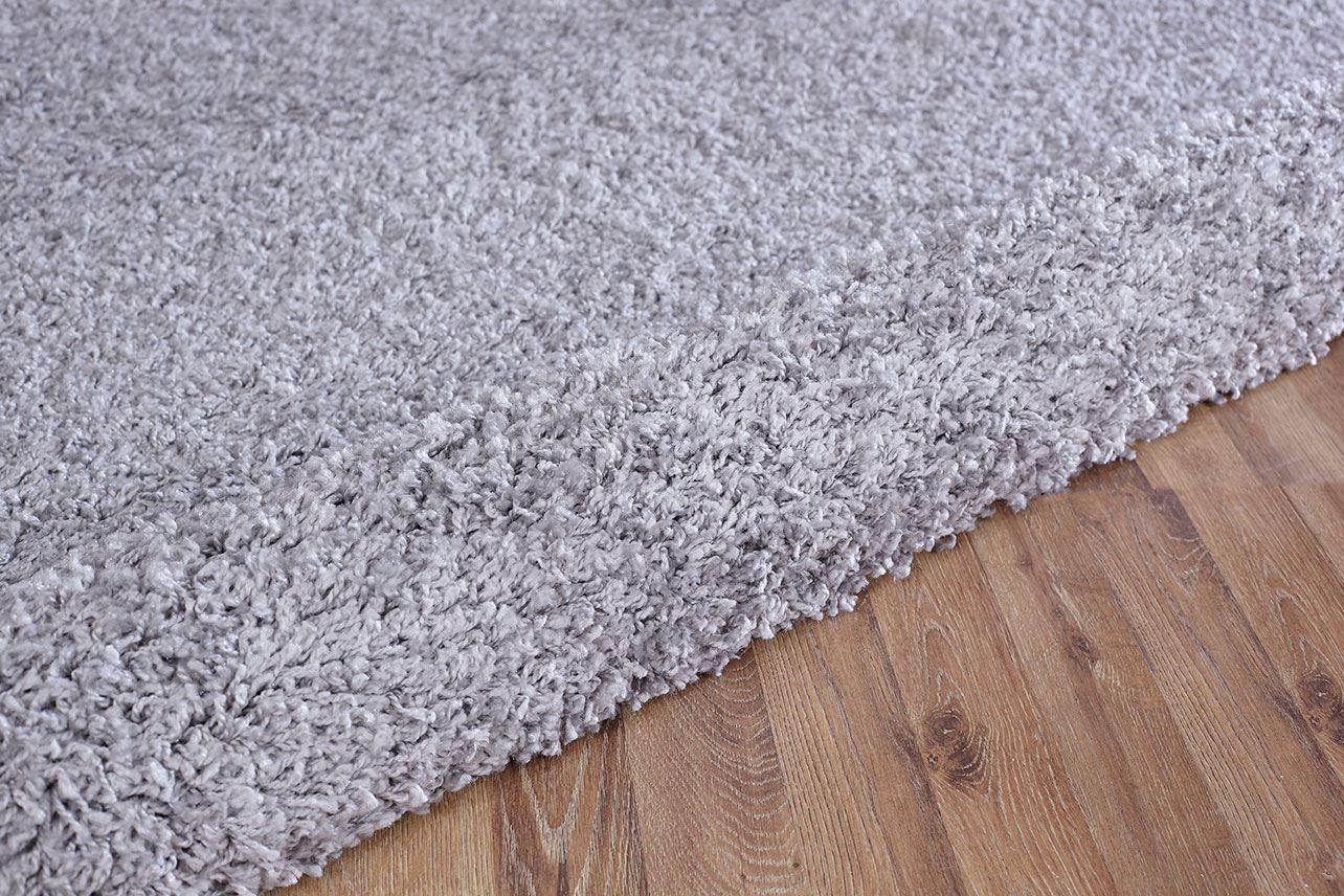 Silver Shaggy Carpet Soft Modern 5cm Pile Thick