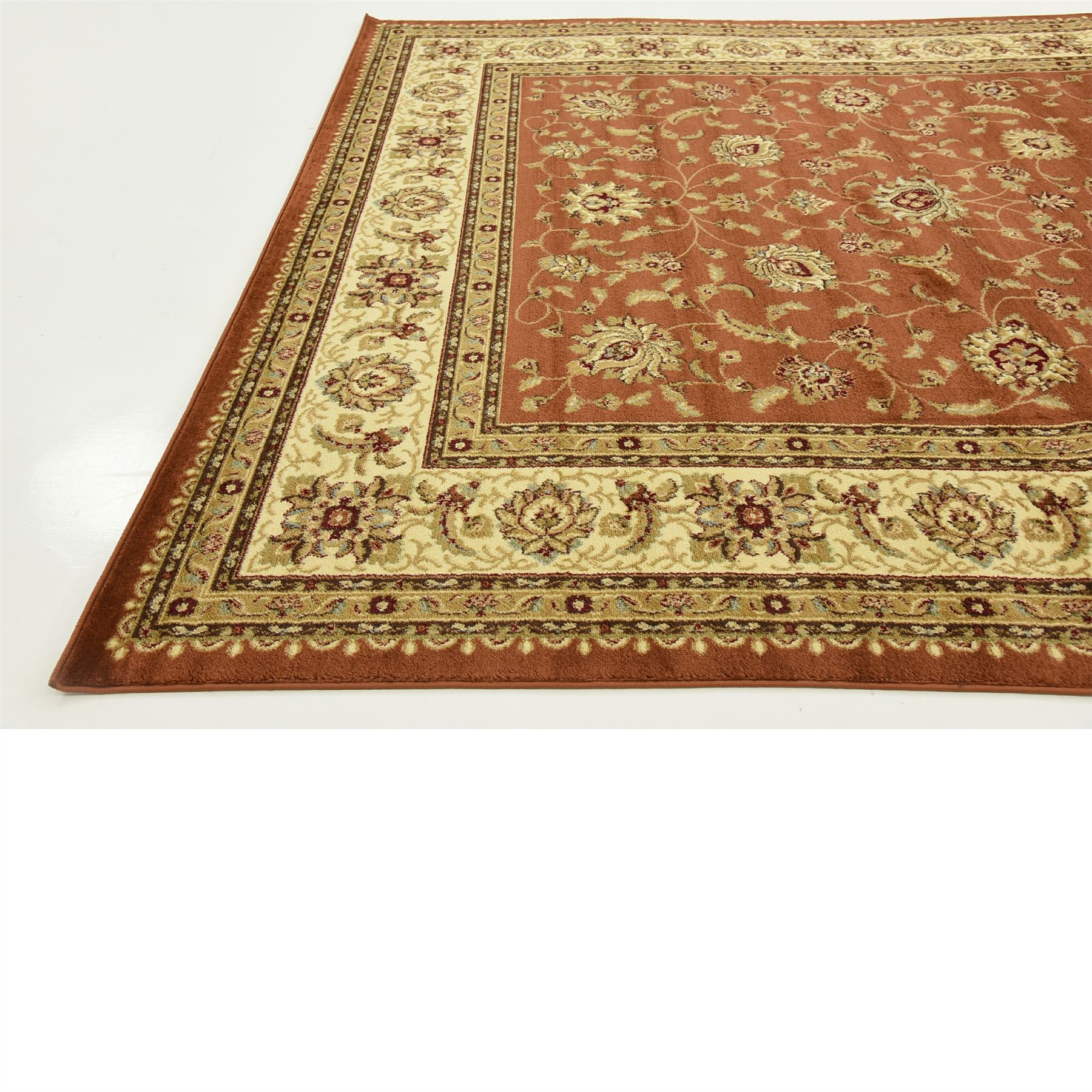 Traditional Persian Design Area Rug All Over Floral Oriental