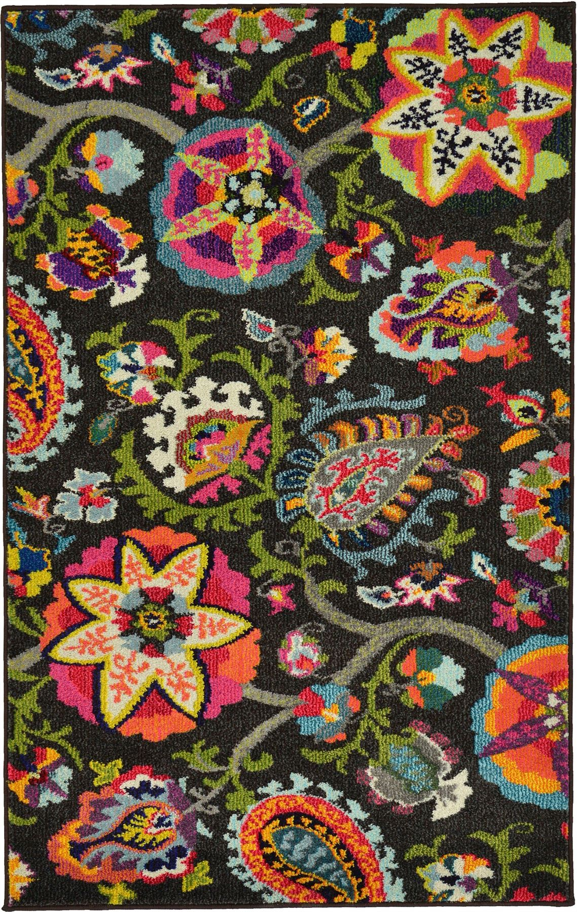 fringeless floral style carpets kids modern rugs area rug floor  - fringelessfloralstylecarpetskidsmodernrugsarea