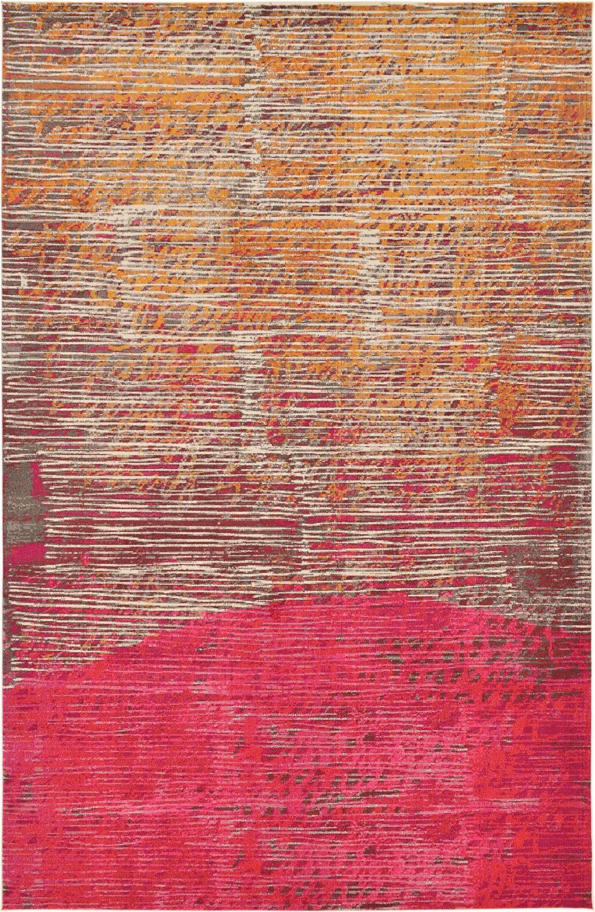 Fringeless Oriental Rugs Modern Striped Carpets Floor Rug