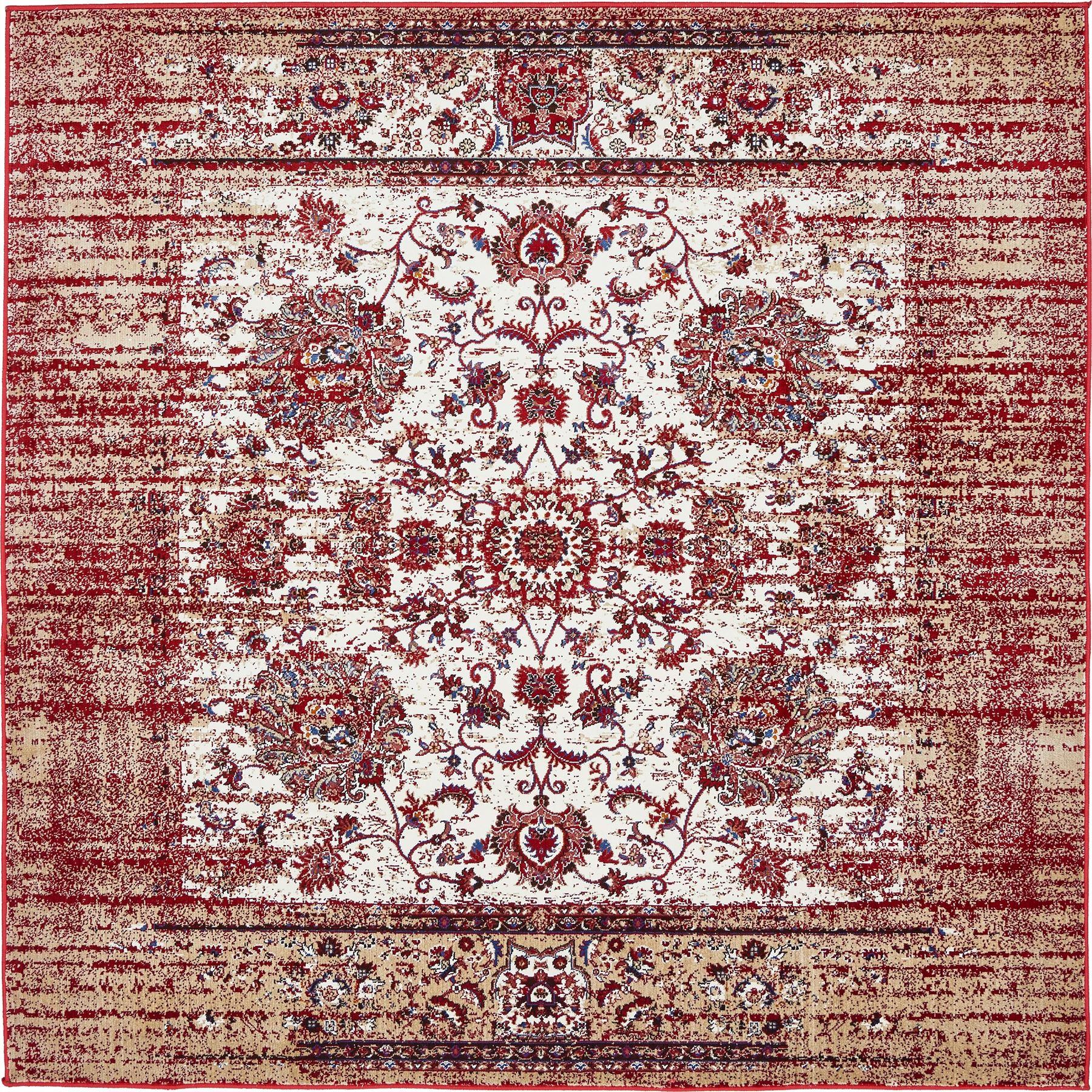 Vintage Floral Rugs: Transitional Floral Faded Large Rug Modern Small