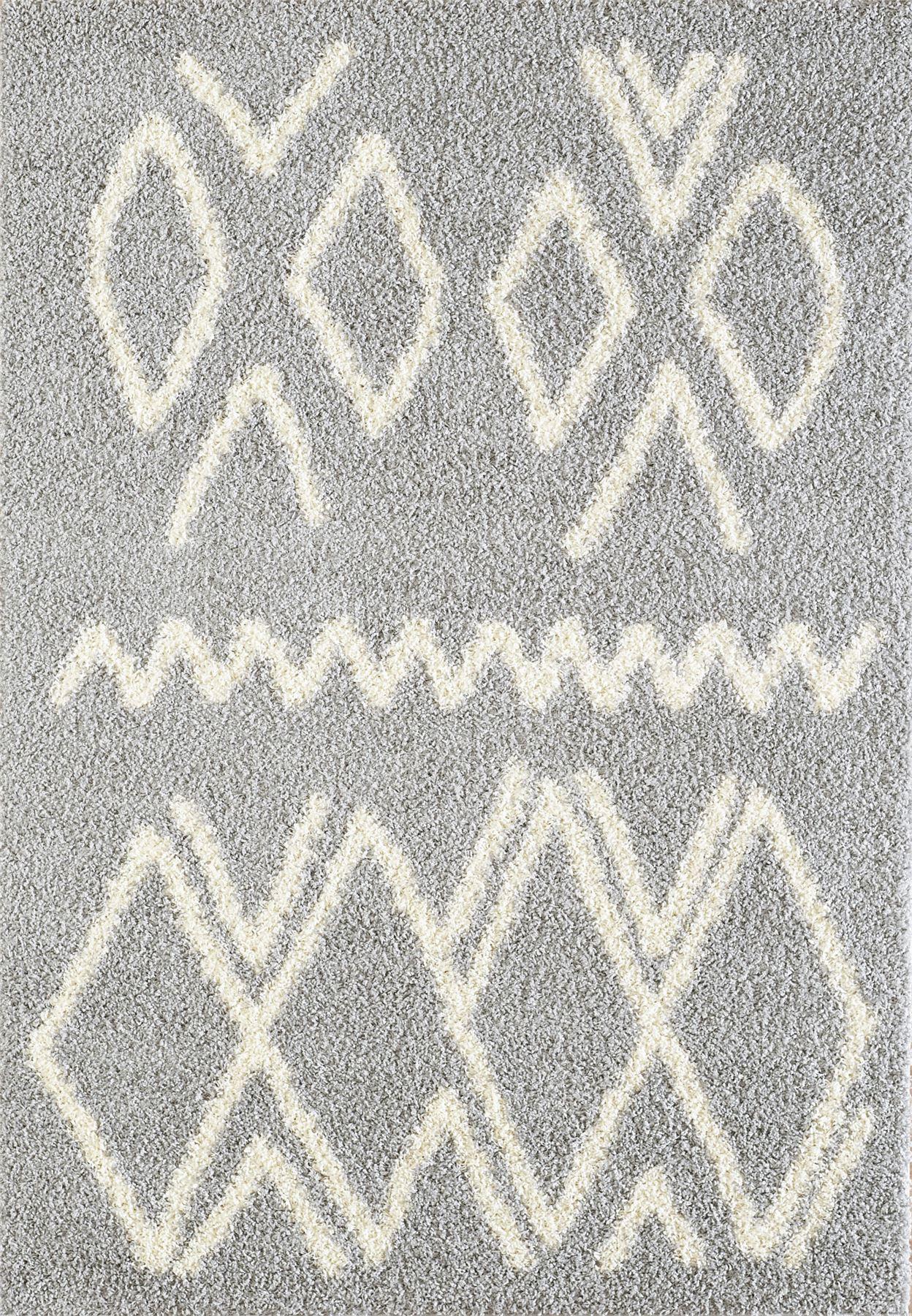 Tappeto-A2Z-Nero-Grigio-Avorio-tradizionale-marocchina-Shaggy-Berber-Boho-Tribal-3cm-Pile miniatura 60