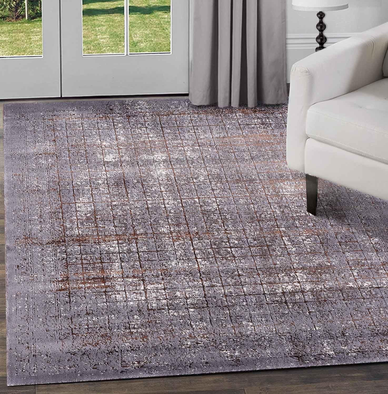 Nero-Grigio-beige-avorio-moderno-tappeti-VINTAGE-ASTRATTO-OMBRA-Lounge-Pavimento-Tappeti miniatura 2