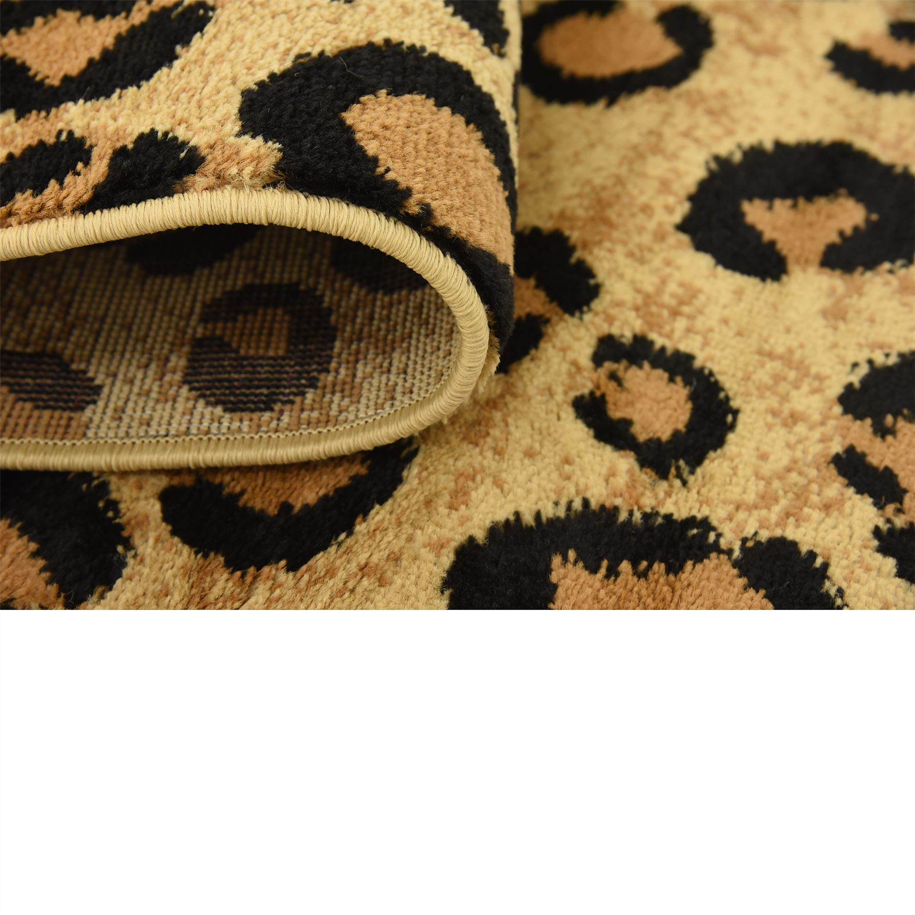 Modern Leopard Skin Style Area Rug Contemporary Animal