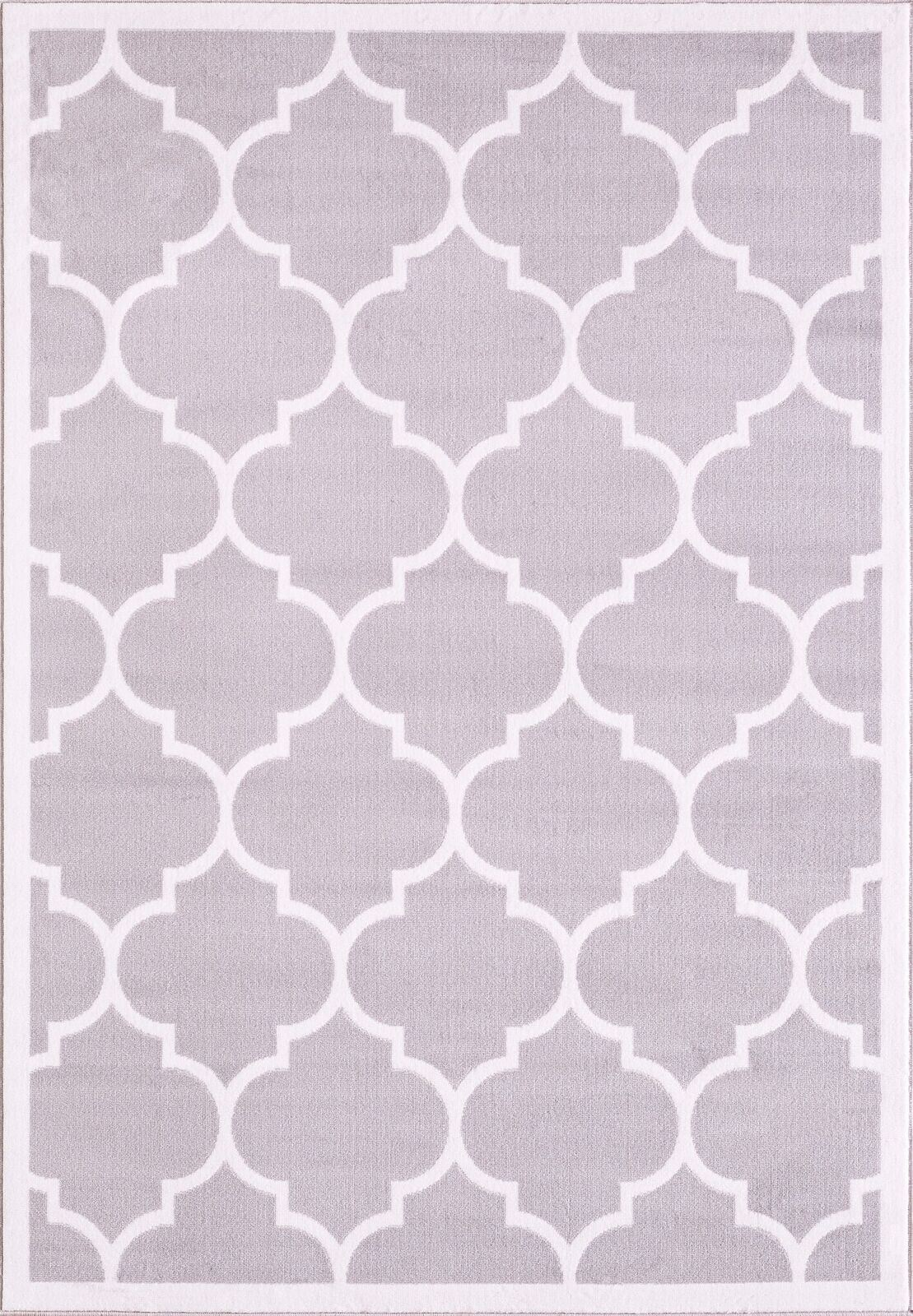 white area rug large modern geometric trellis thin carpet contemporary 28834