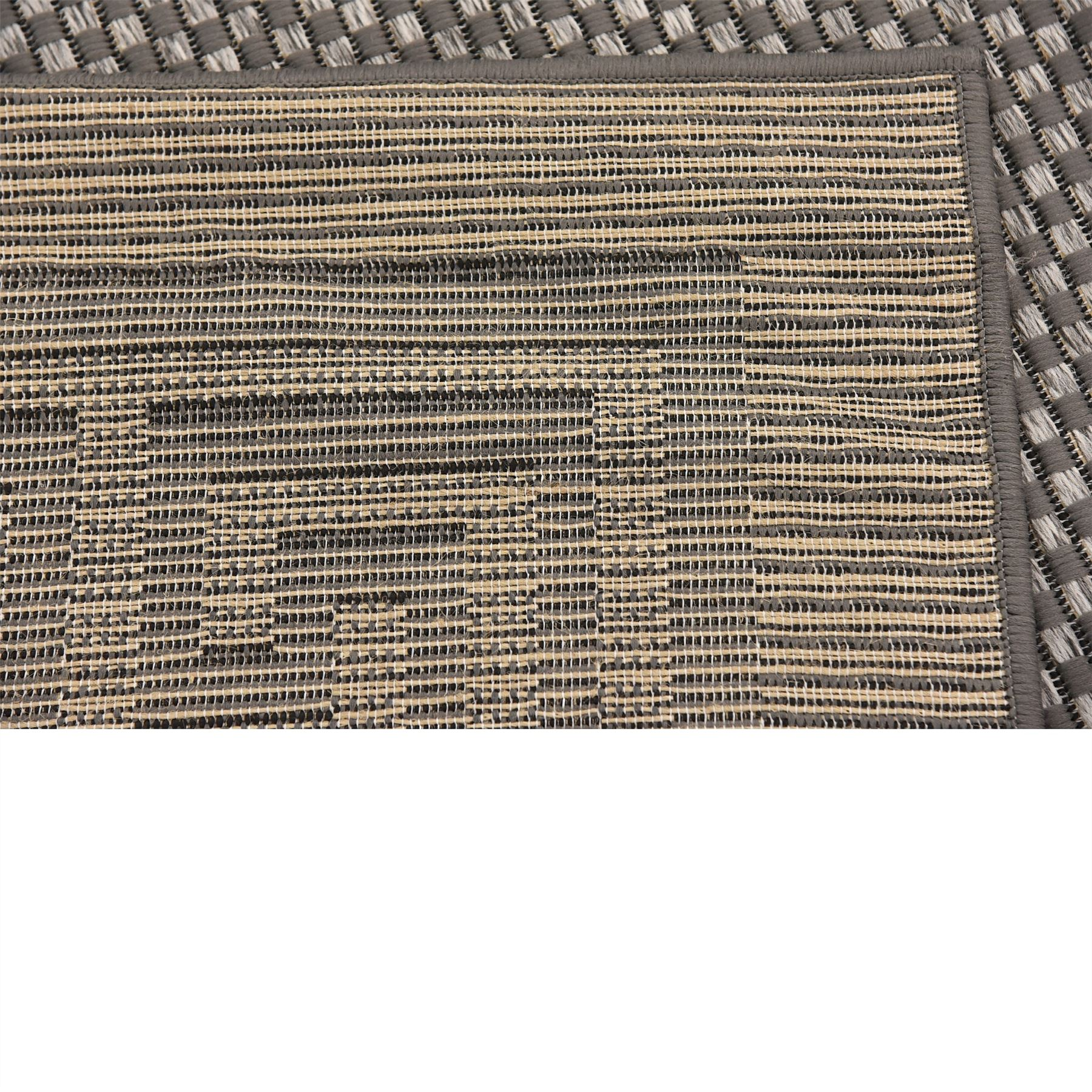 Modern-Outdoor-Thin-Area-Rug-Contemporary-Plain-Large-Small-Carpet-Gray-Brown thumbnail 17