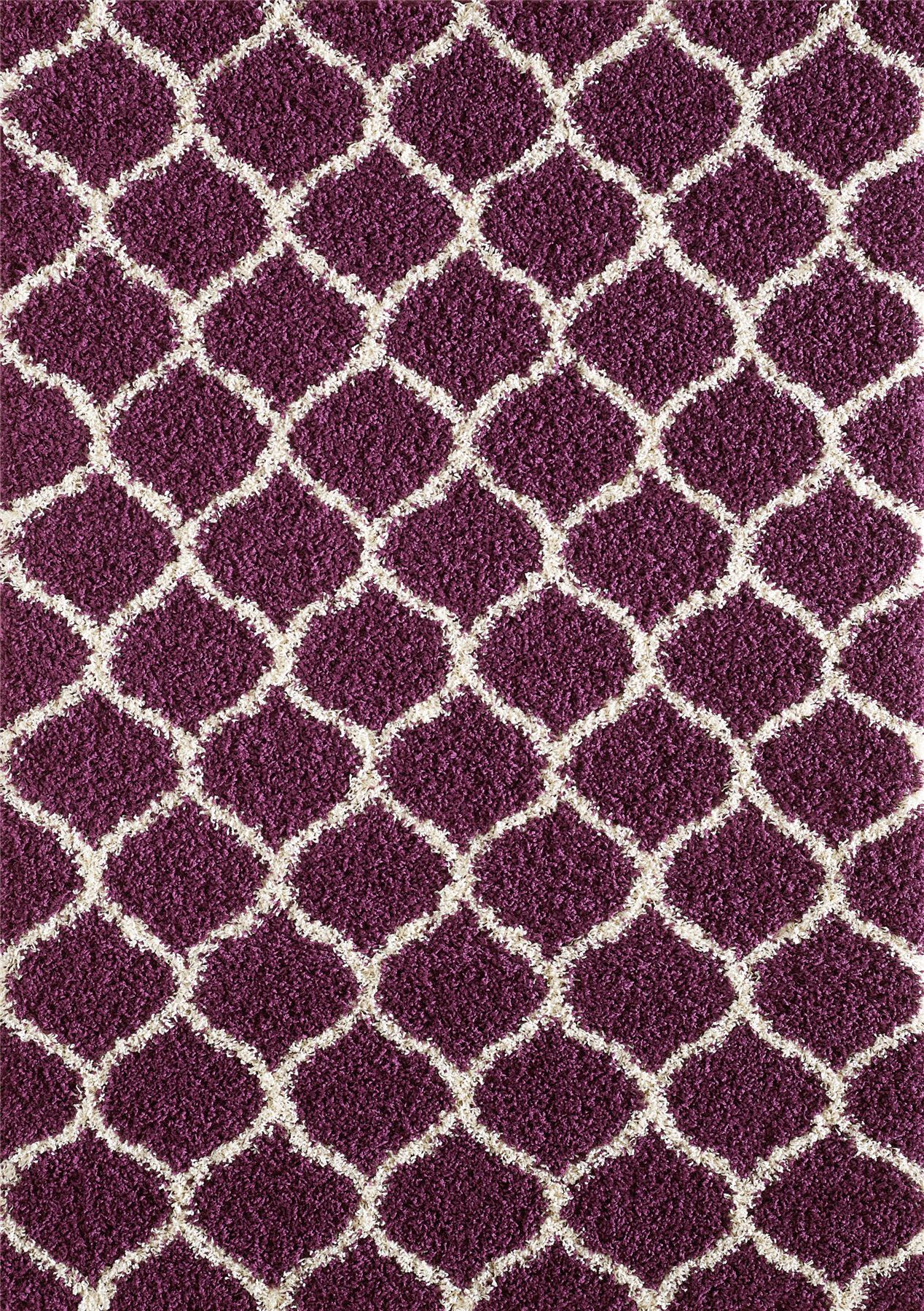 Dense-Pile-Trellis-Bedroom-Carpets-Thick-Shaggy-Rugs-Modern-Coloured-Pattern-Mat thumbnail 18
