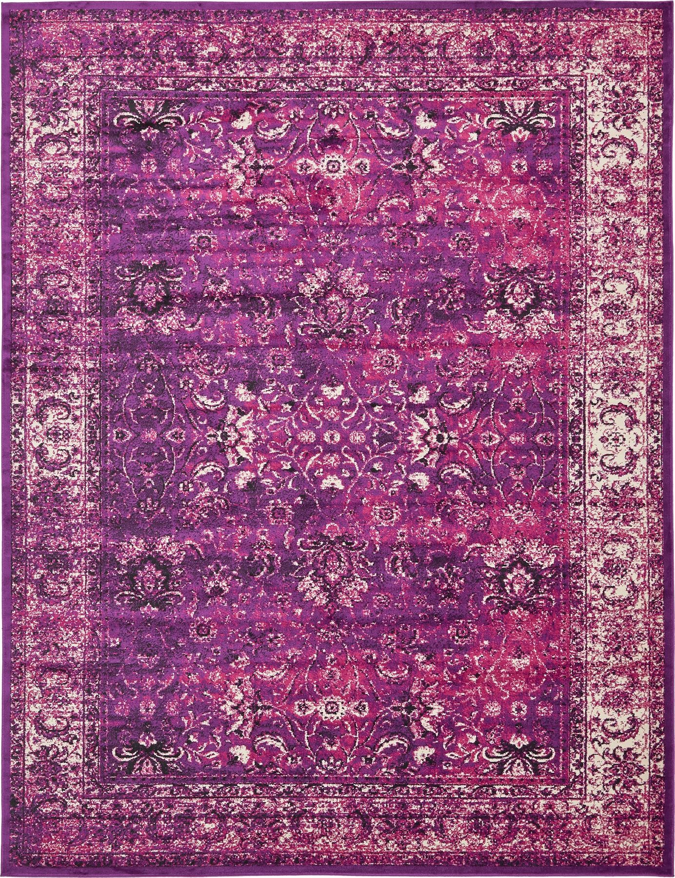 Transitional purple faded large rug modern small for Purple area rugs contemporary