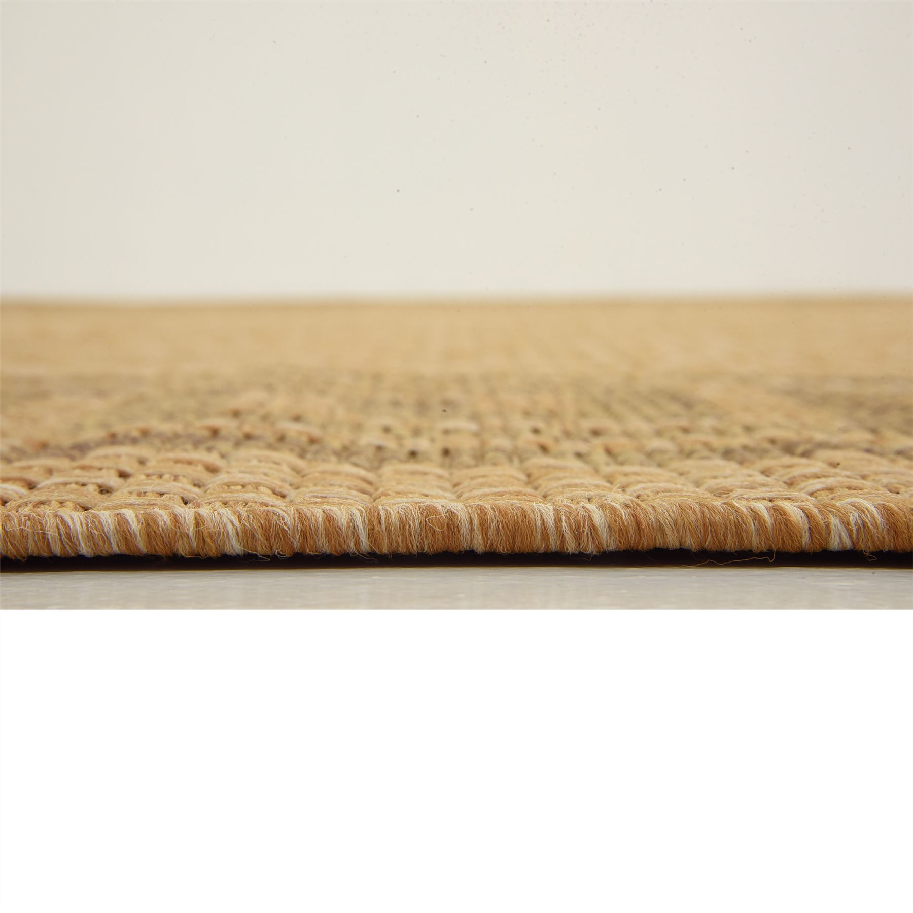 Modern-Outdoor-Thin-Area-Rug-Contemporary-Plain-Large-Small-Carpet-Gray-Brown thumbnail 22