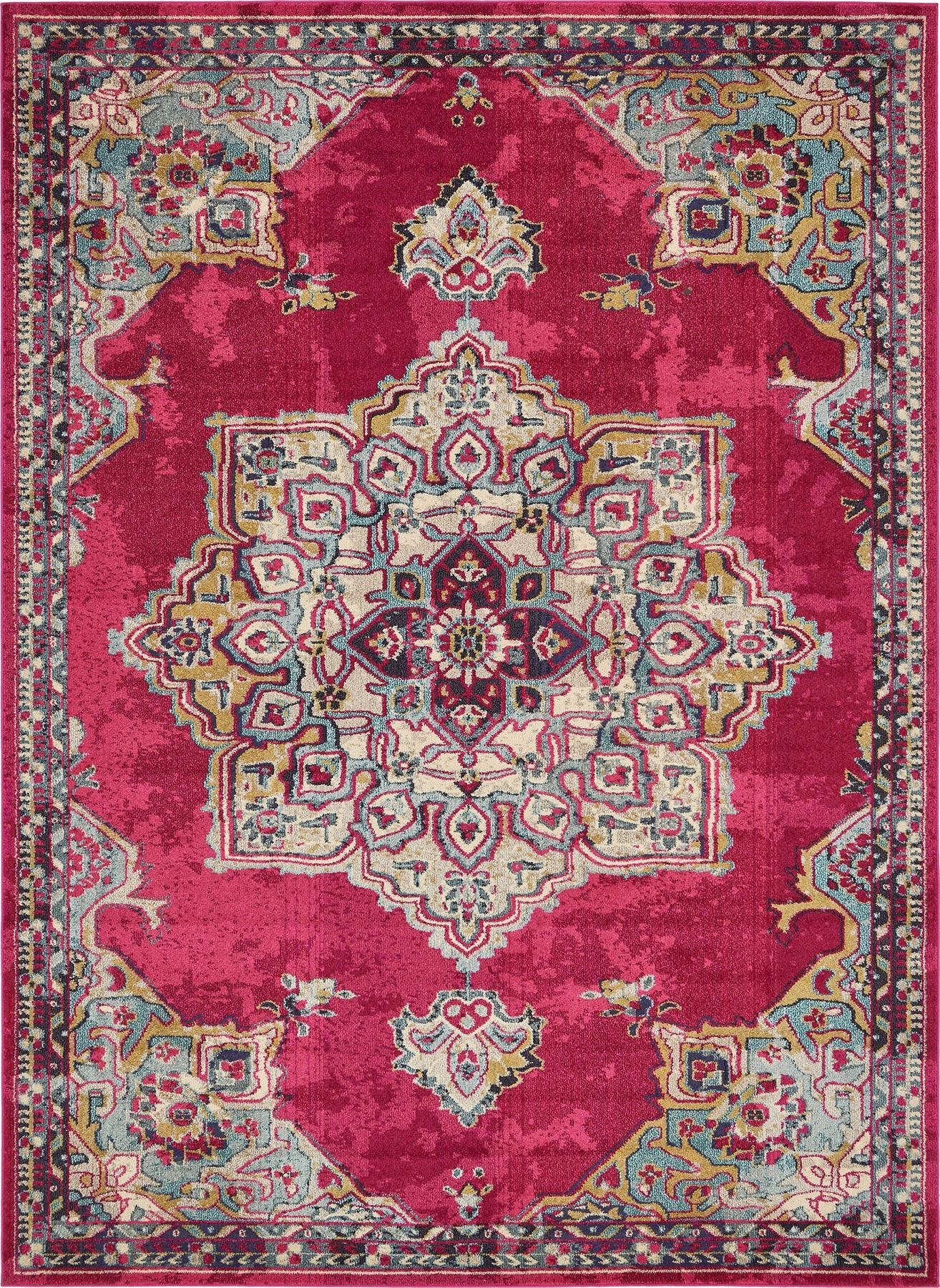 Home rug medallion carpet traditional style over dyed area for Vintage style area rugs