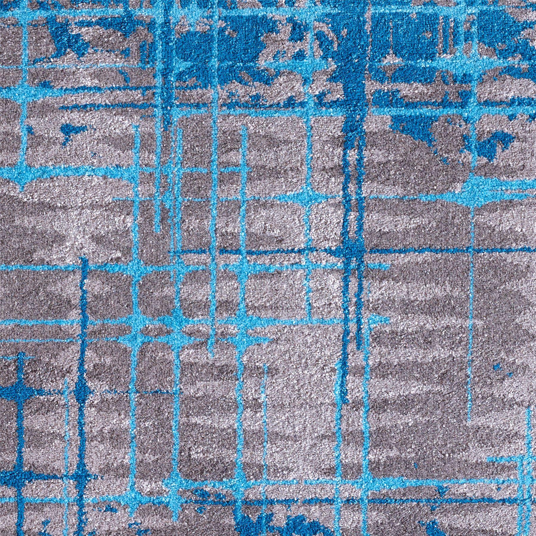 TAPPETI-SALOTTO-GEOMETRICO-GRIGIO-VERDE-ACQUA-moderno-camera-da-letto-salone-salotto-tappeti miniatura 7