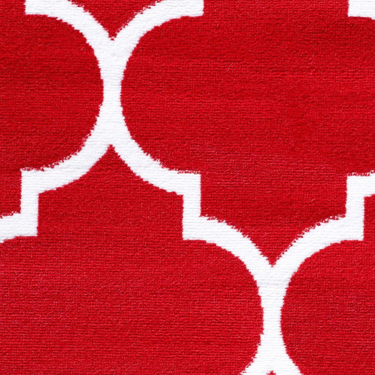 Normal Pile Modern Red Bedroom Area Rugs Soft Fluffy