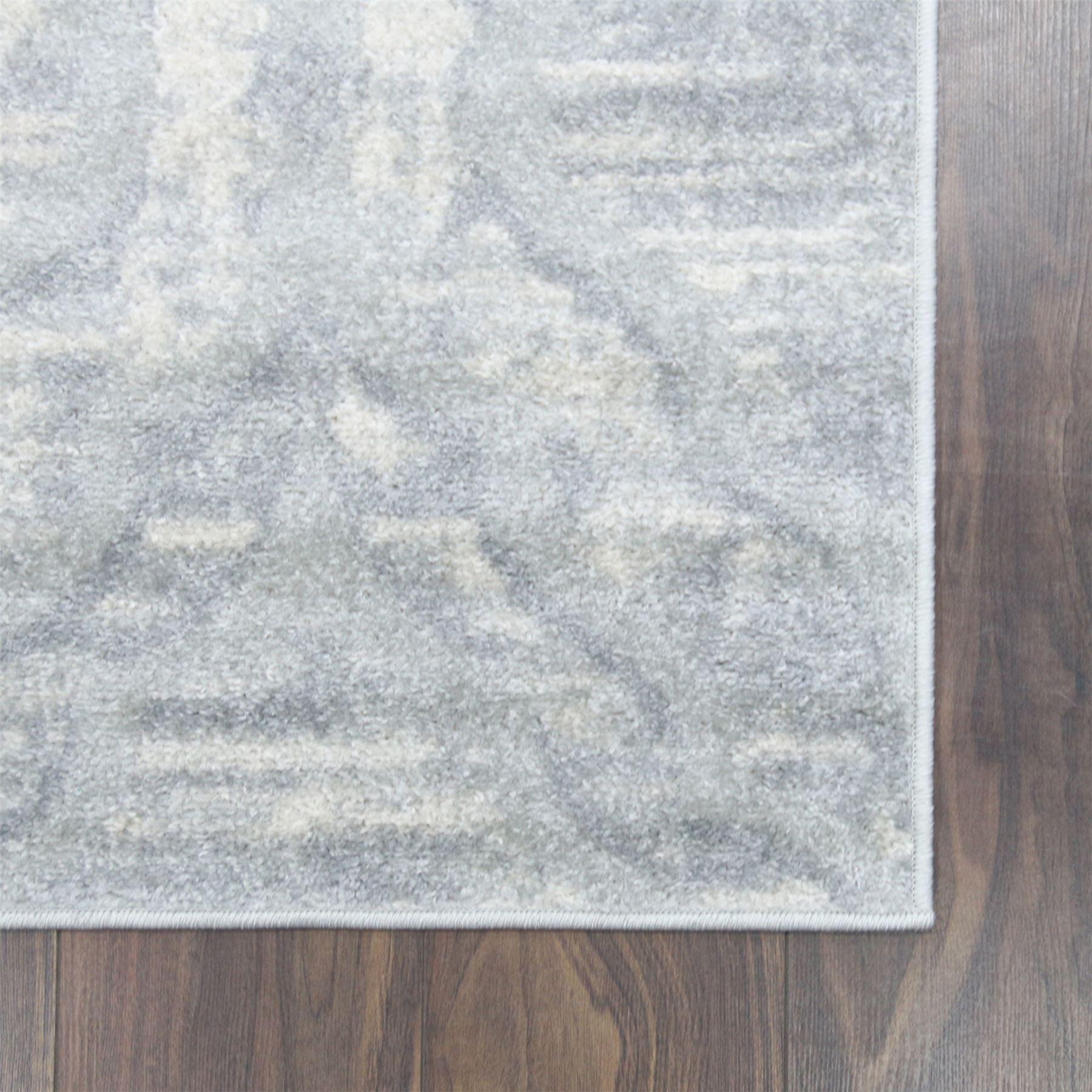 A2Z-grigio-grande-mix-di-moderni-tappeti-VINTAGE-dissolvenza-modelli-Design-Arredamento-Corridori miniatura 3