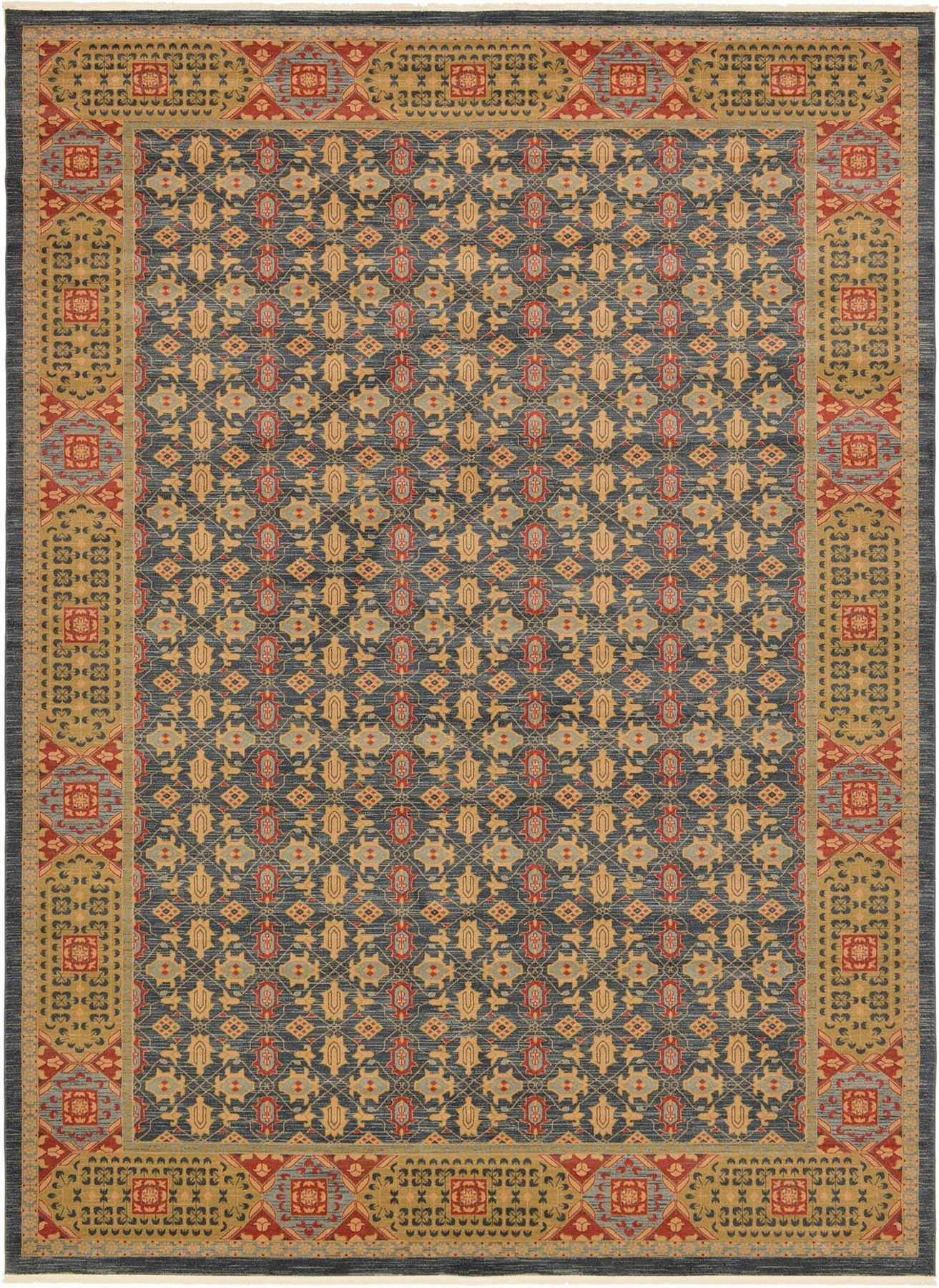 persian design traditional area rug oriental floral large. Black Bedroom Furniture Sets. Home Design Ideas