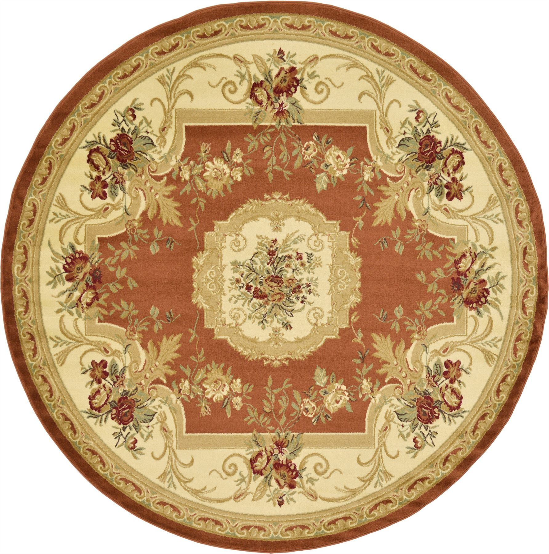 Oriental-Large-Area-Rug-Square-Traditional-Country-Round-Carpet-Medallion-Small thumbnail 8