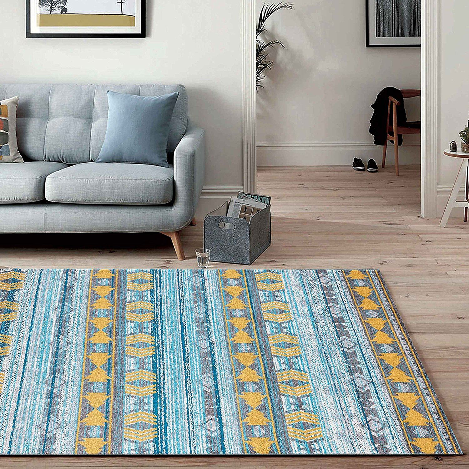 Details About A2z Rug Contemporary Retro Living Room Rugs Modern Geometric Bedroom Area Carpet