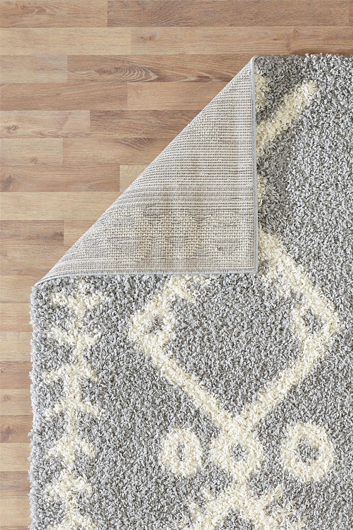 Moroccan-Shaggy-Area-Rug-Grey-White-Black-Soft-Carpet-Traditional-Berber-Designs thumbnail 28
