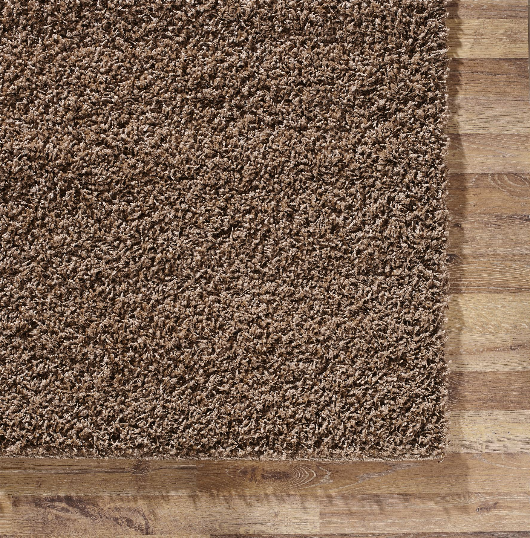 homescapes chocolate shaggy main leather rug dallas