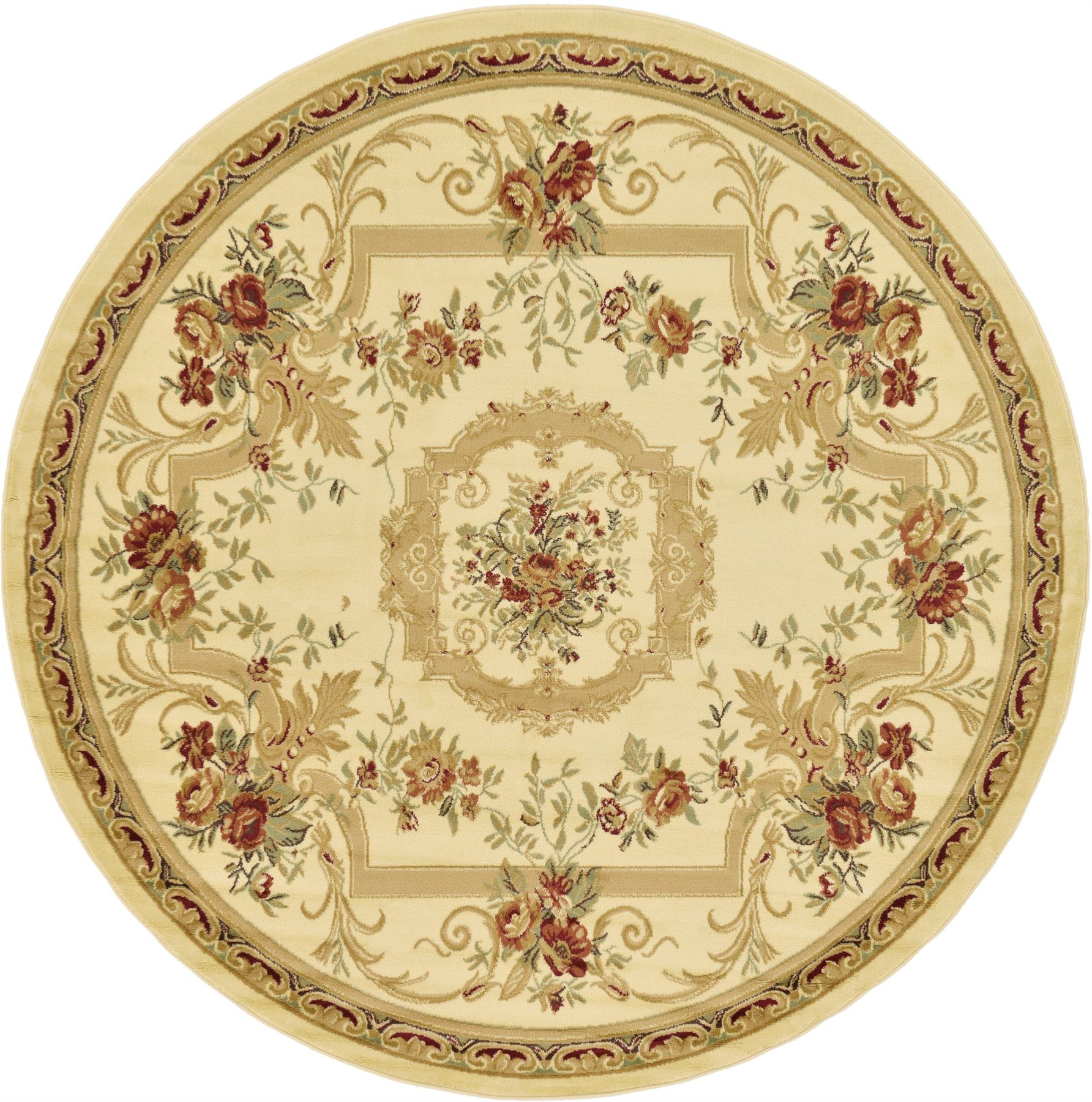 Oriental-Large-Area-Rug-Square-Traditional-Country-Round-Carpet-Medallion-Small thumbnail 21