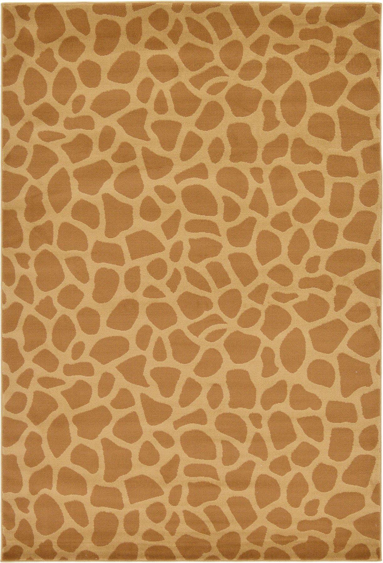 Giraffe Skin Modern Safari Style Area Rug Contemporary
