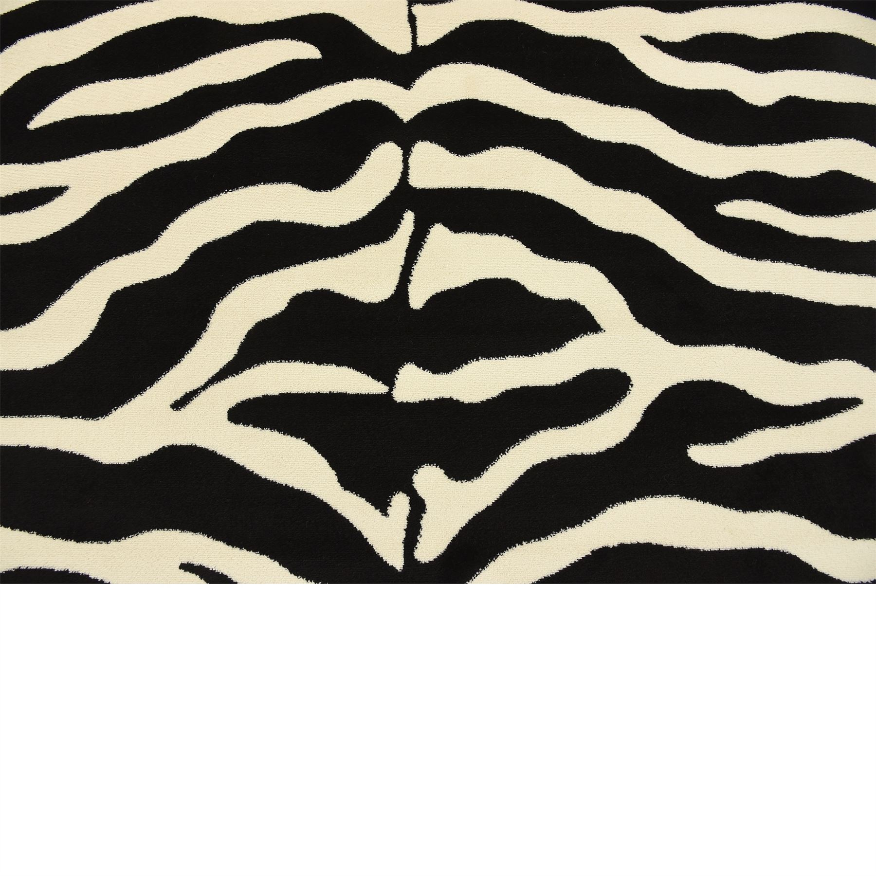 Acura Rugs Animal Hide White Black Zebra Area Rug: Modern Zebra Design Black White Area Rug Animal Pattern