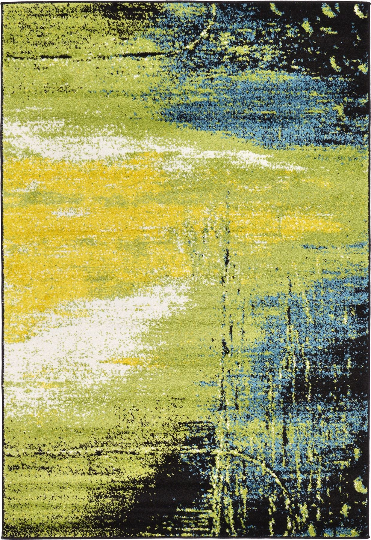 Modern Green Shadow Design Area Rug Contemporary Style