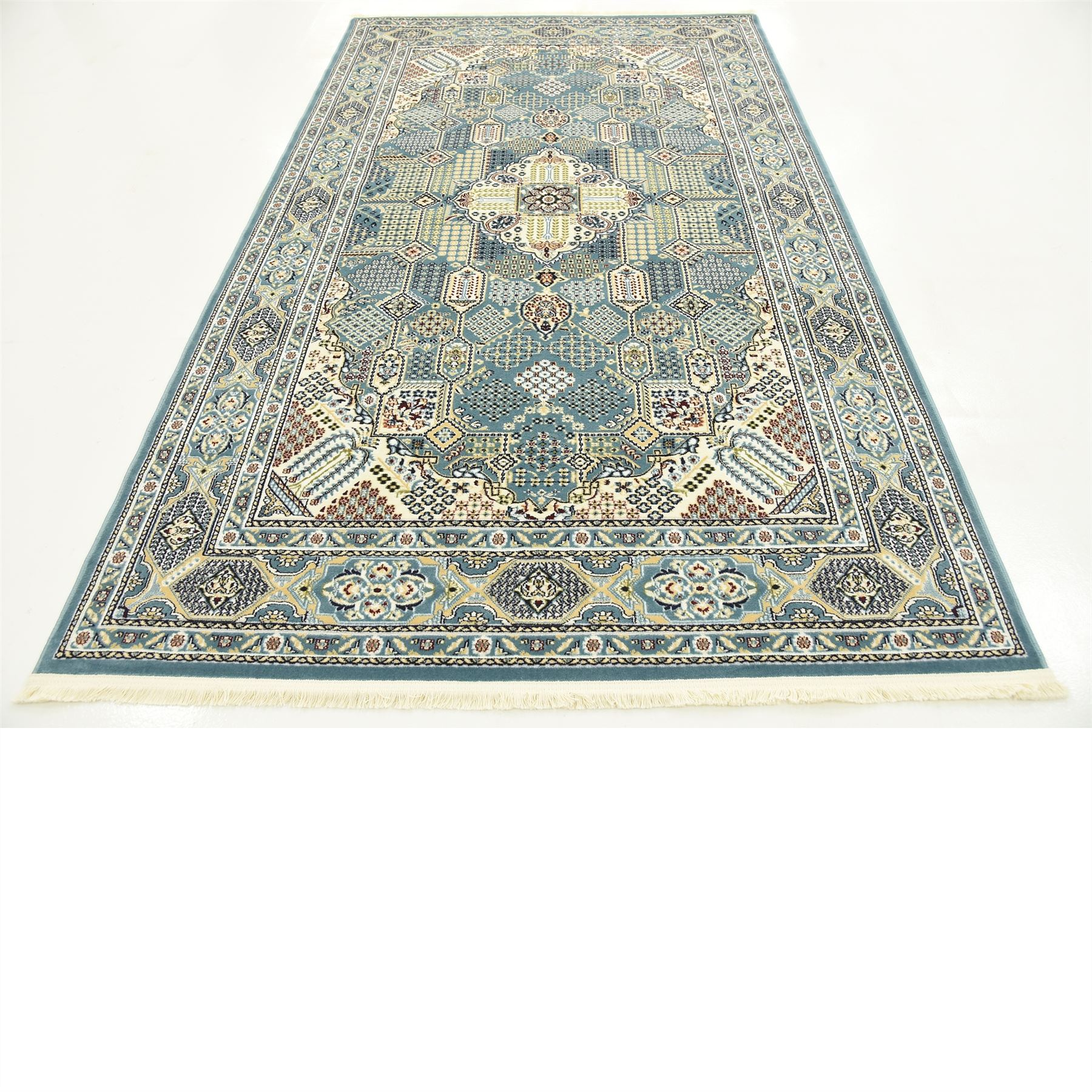 Traditional Moroccan Oriental Inspired Medallion Area Rug