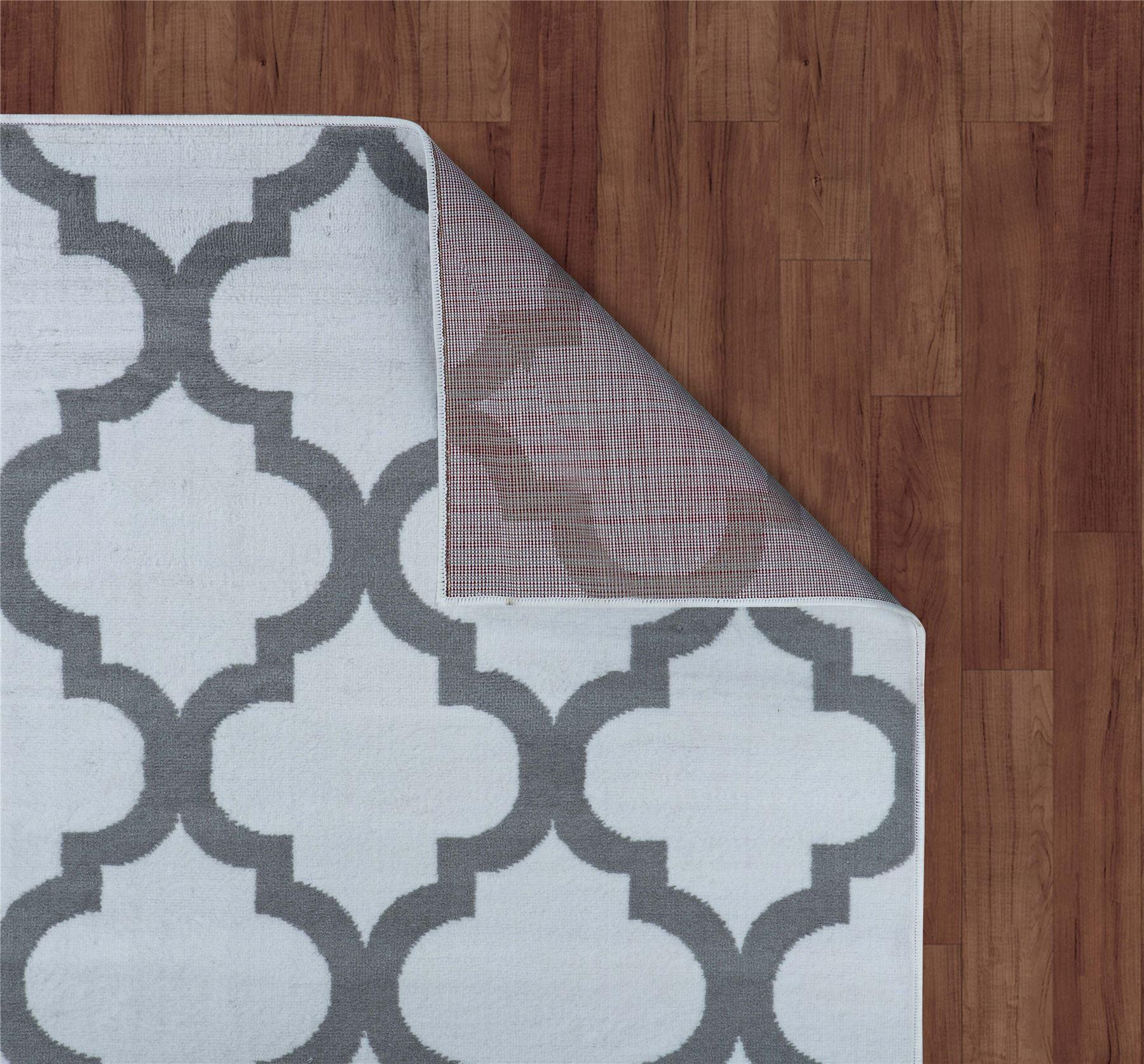 Nero-Rosso-Argento-Bianco-Viola-Moderno-Area-Tappeto-Traliccio-DESIGN-CUCINA-outdoorrug miniatura 34