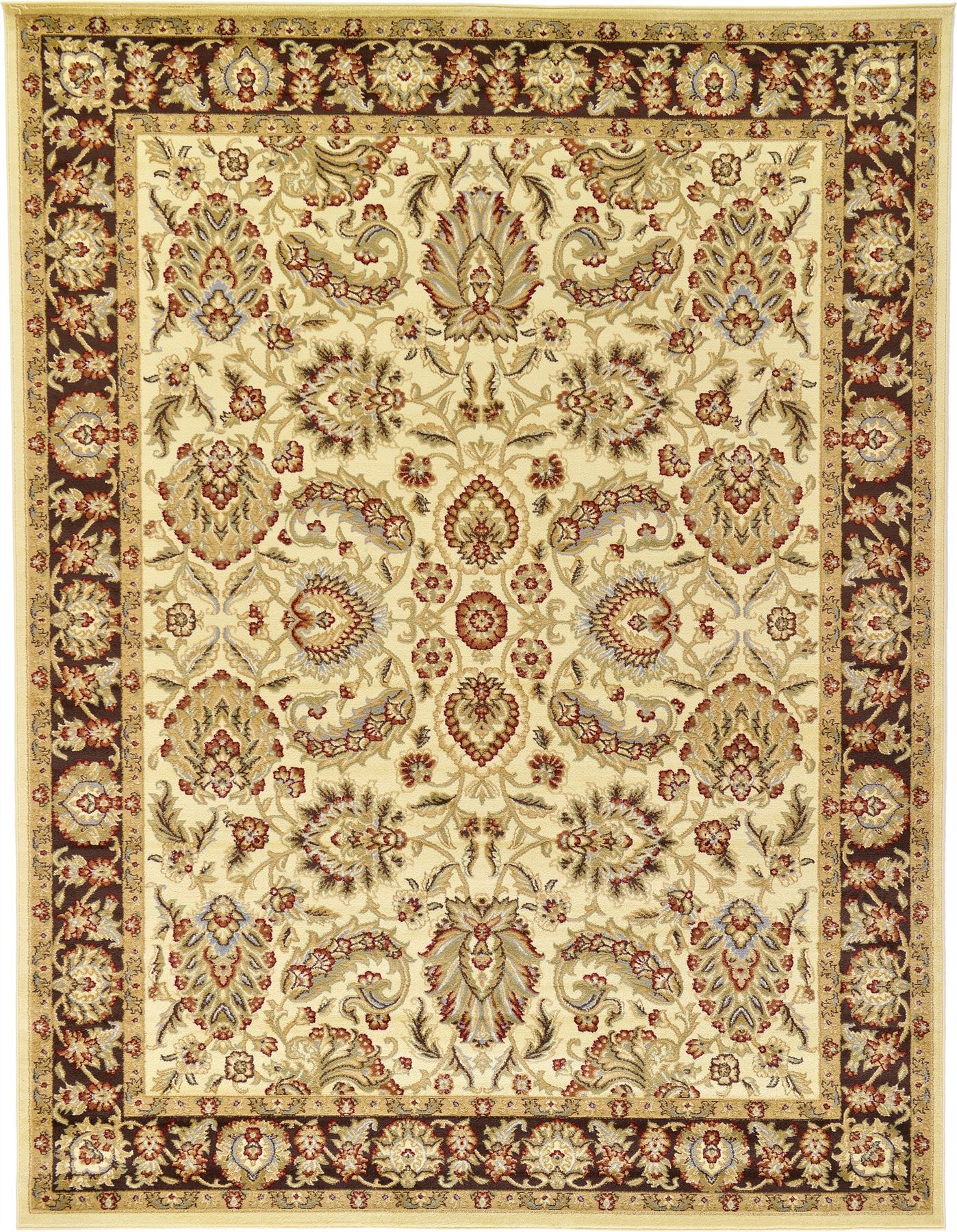Traditional Area Rug Floral Persian Design Large Red
